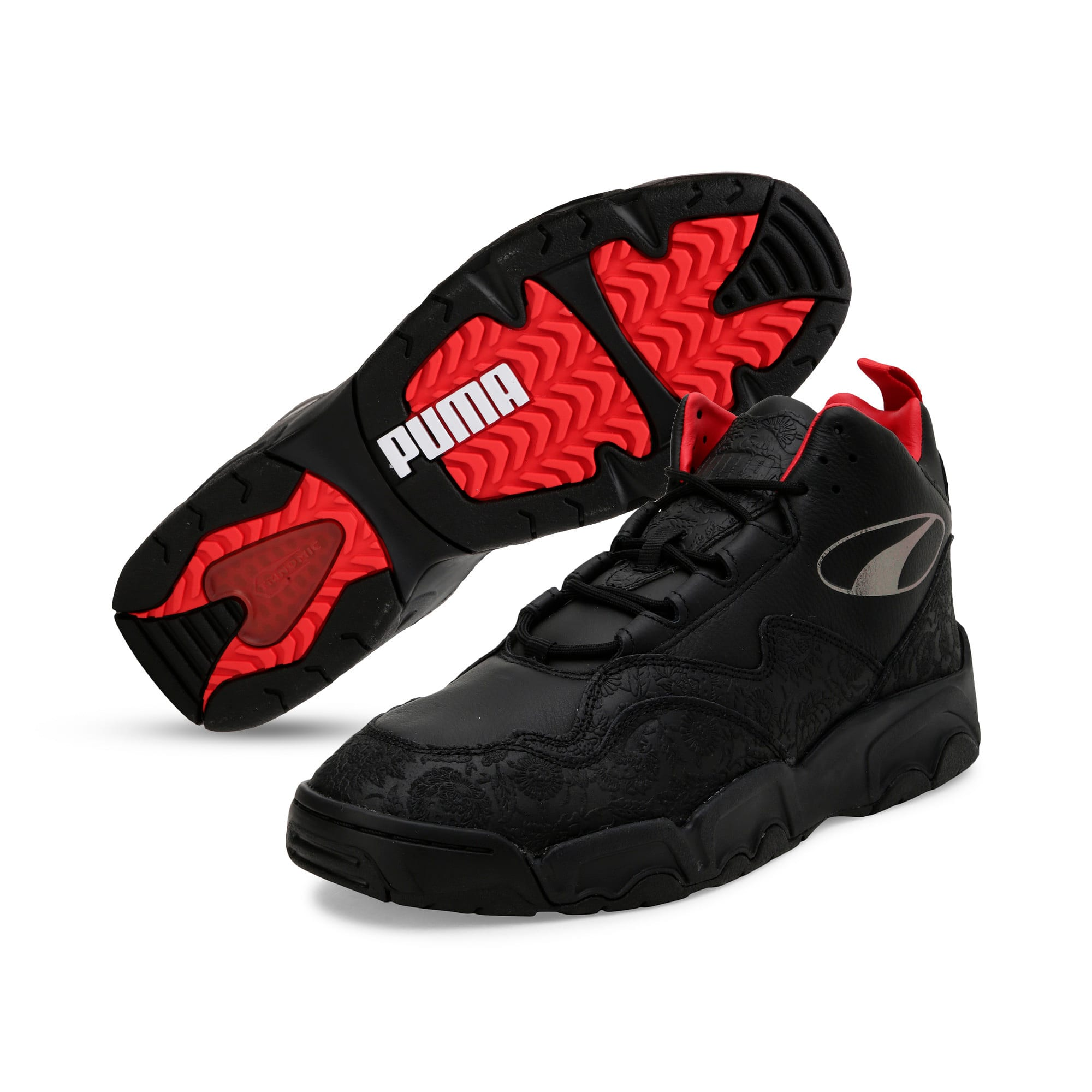Thumbnail 3 of Source Mid World Cup Trainers, P Blk-Bronze-High Risk Red, medium-IND