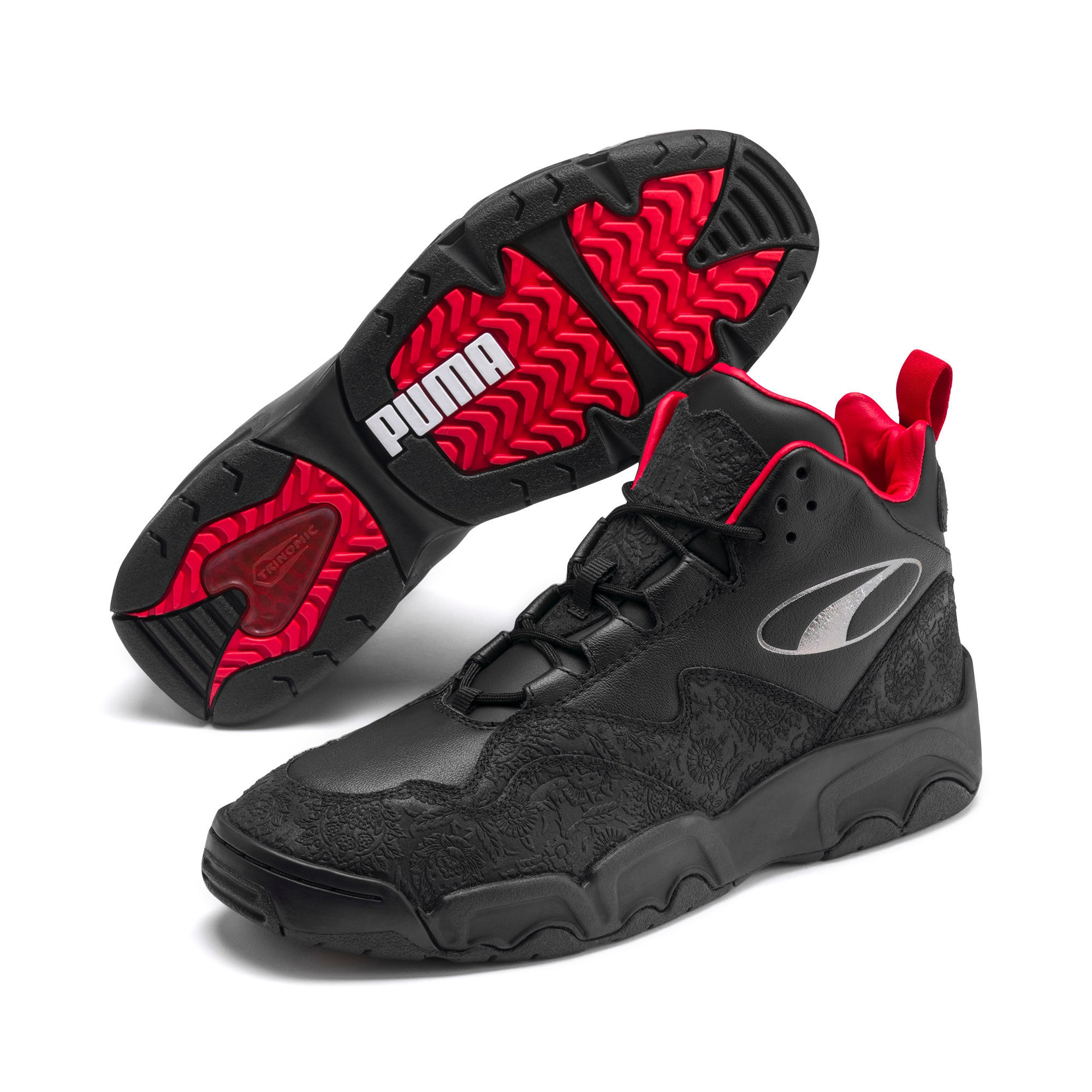 Thumbnail 3 of Source Mid World Cup Sneakers, P Blk-Bronze-High Risk Red, medium