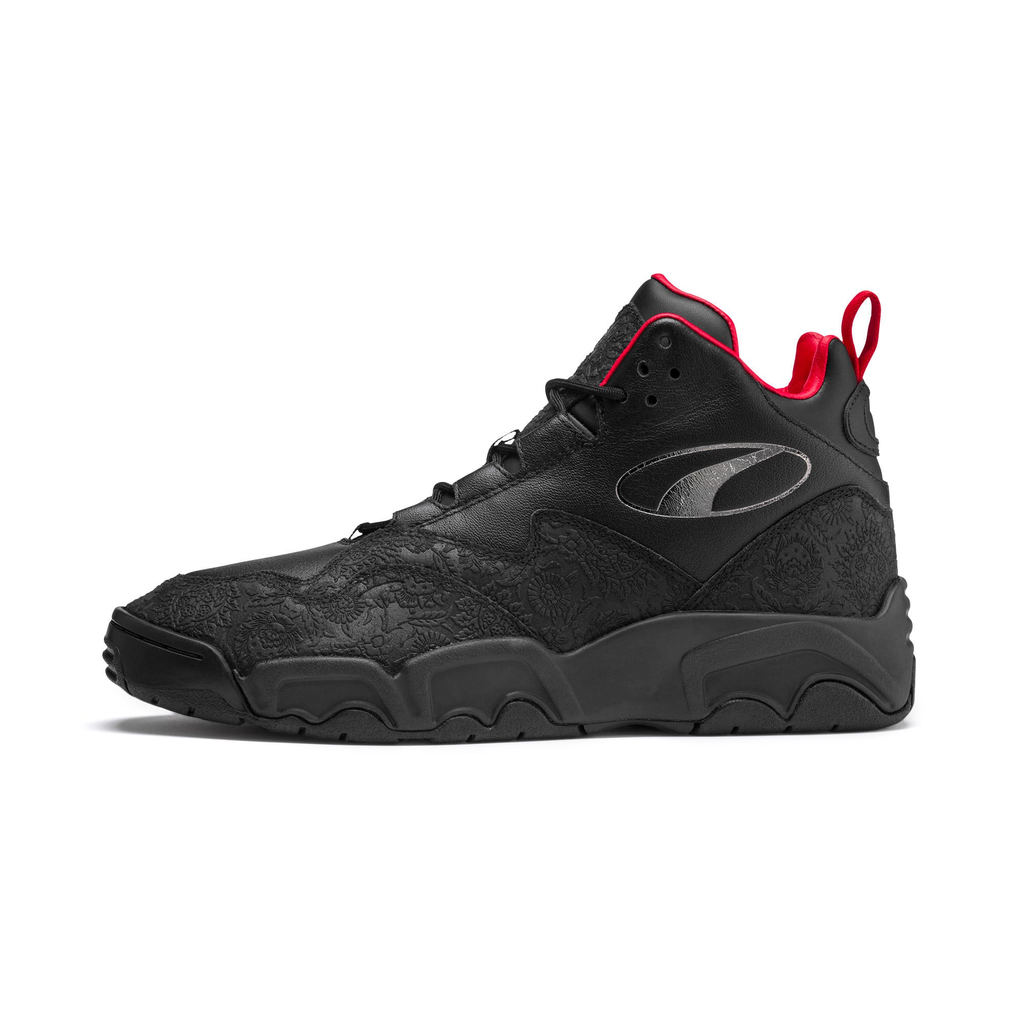 Thumbnail 1 of Source Mid World Cup Sneakers, P Blk-Bronze-High Risk Red, medium