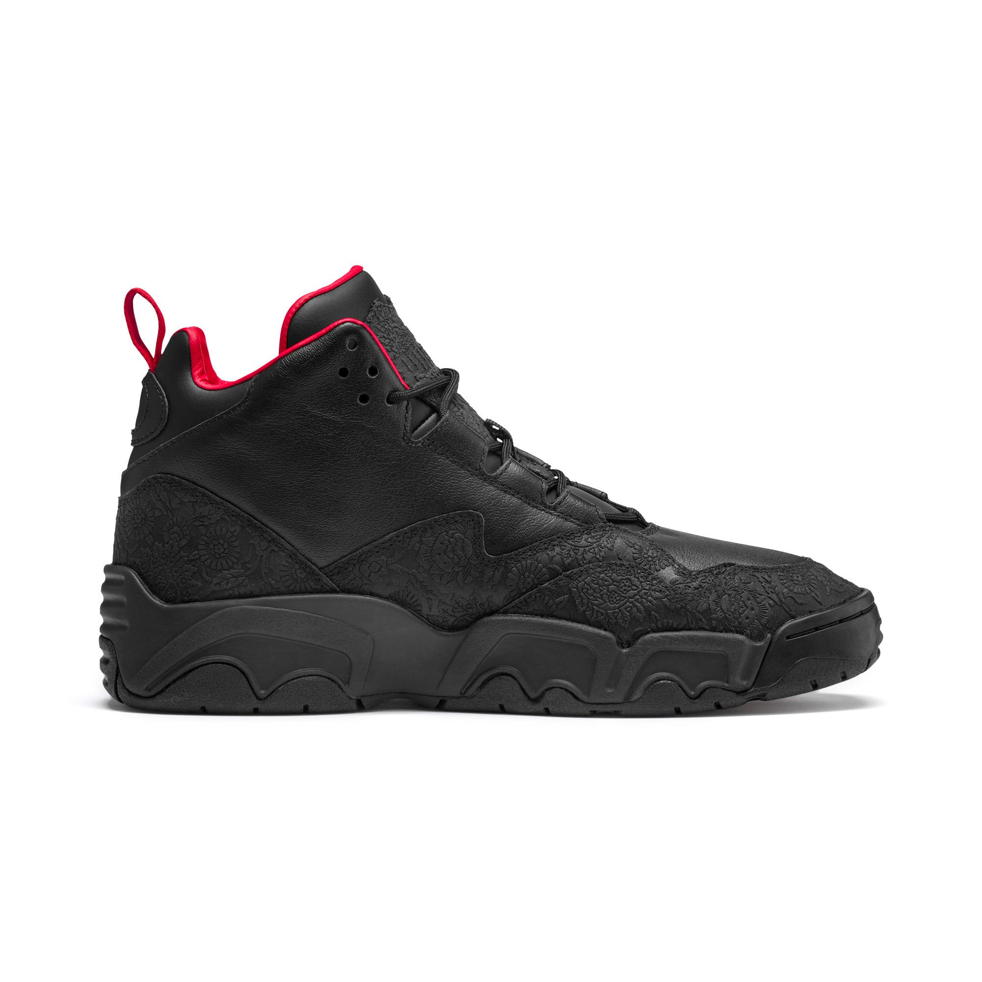 Thumbnail 6 of Source Mid World Cup Sneakers, P Blk-Bronze-High Risk Red, medium