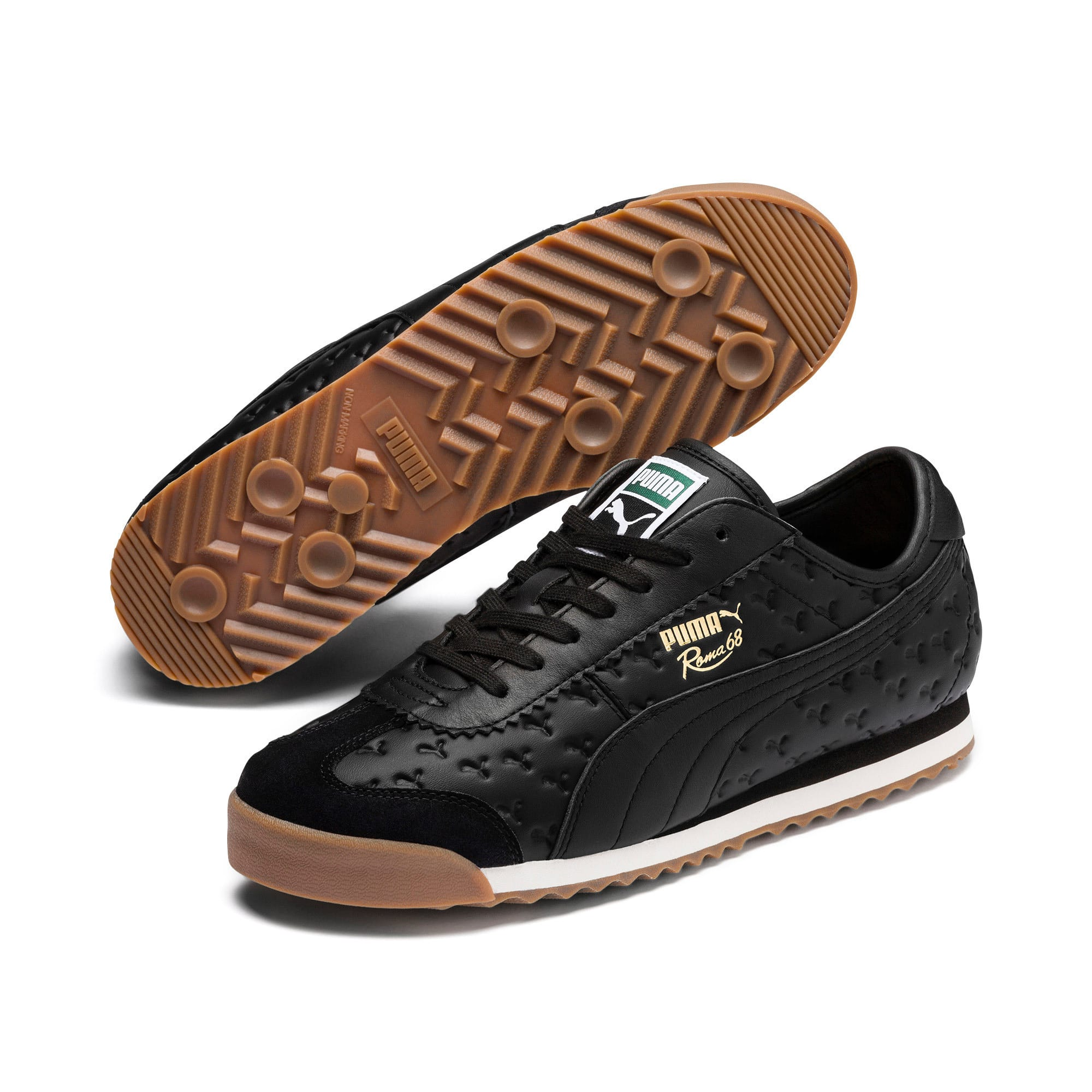 Thumbnail 3 of Roma '68 Gum Sneakers, Puma Black-Puma Black, medium
