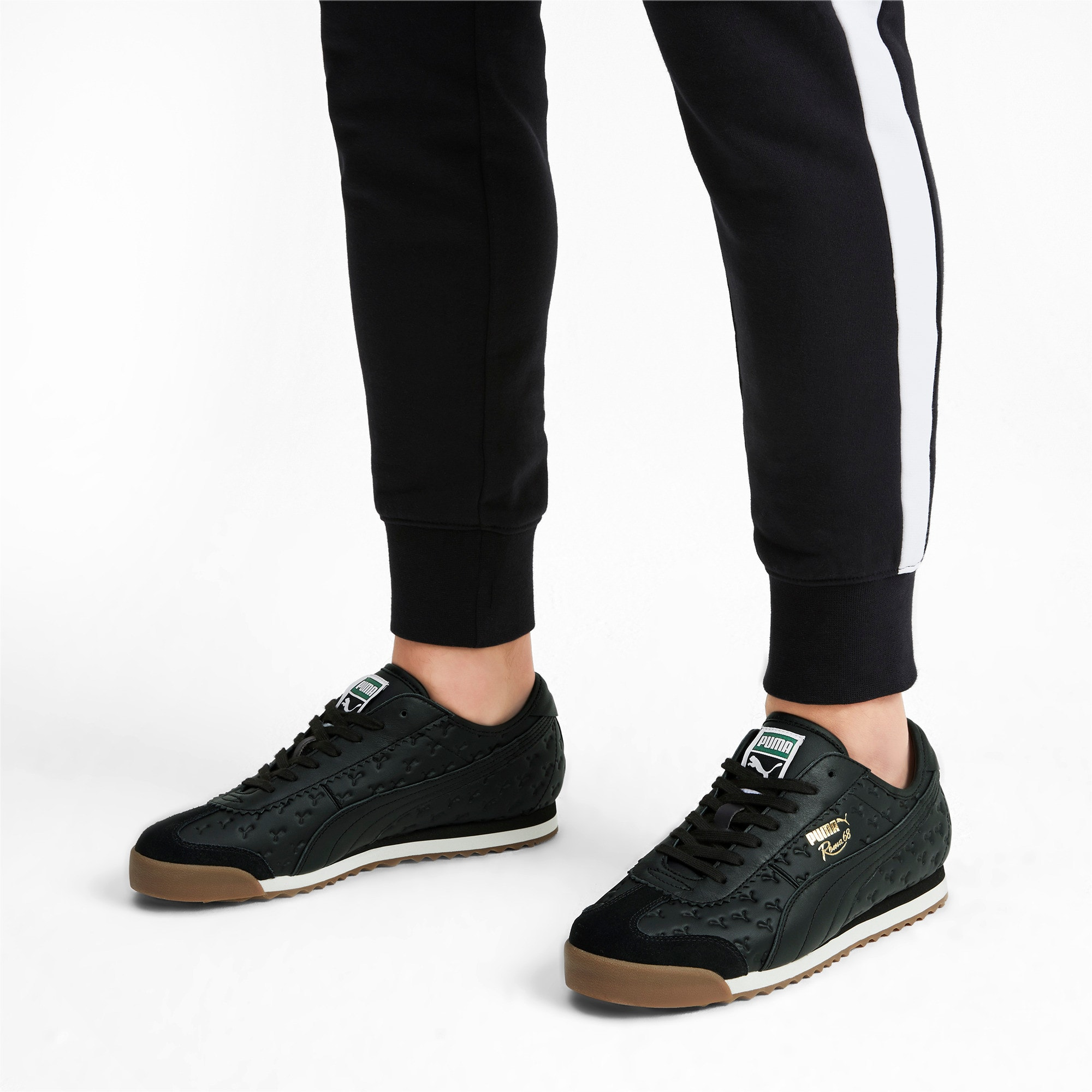 Thumbnail 2 of Roma '68 Gum Sneakers, Puma Black-Puma Black, medium