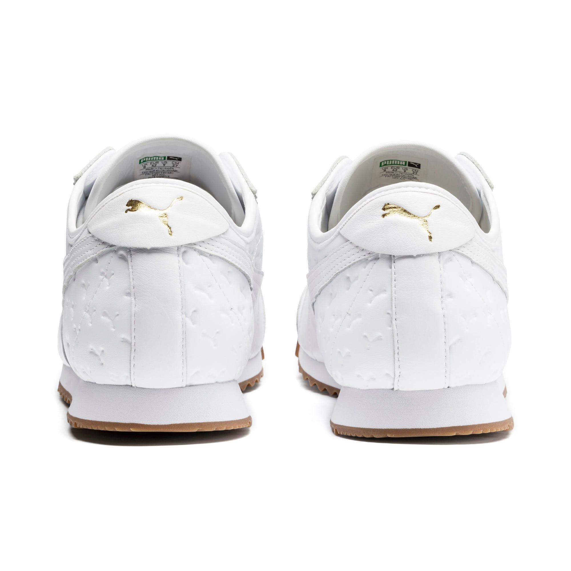 Thumbnail 4 of Roma '68 Gum Sneakers, Puma White-Puma White, medium
