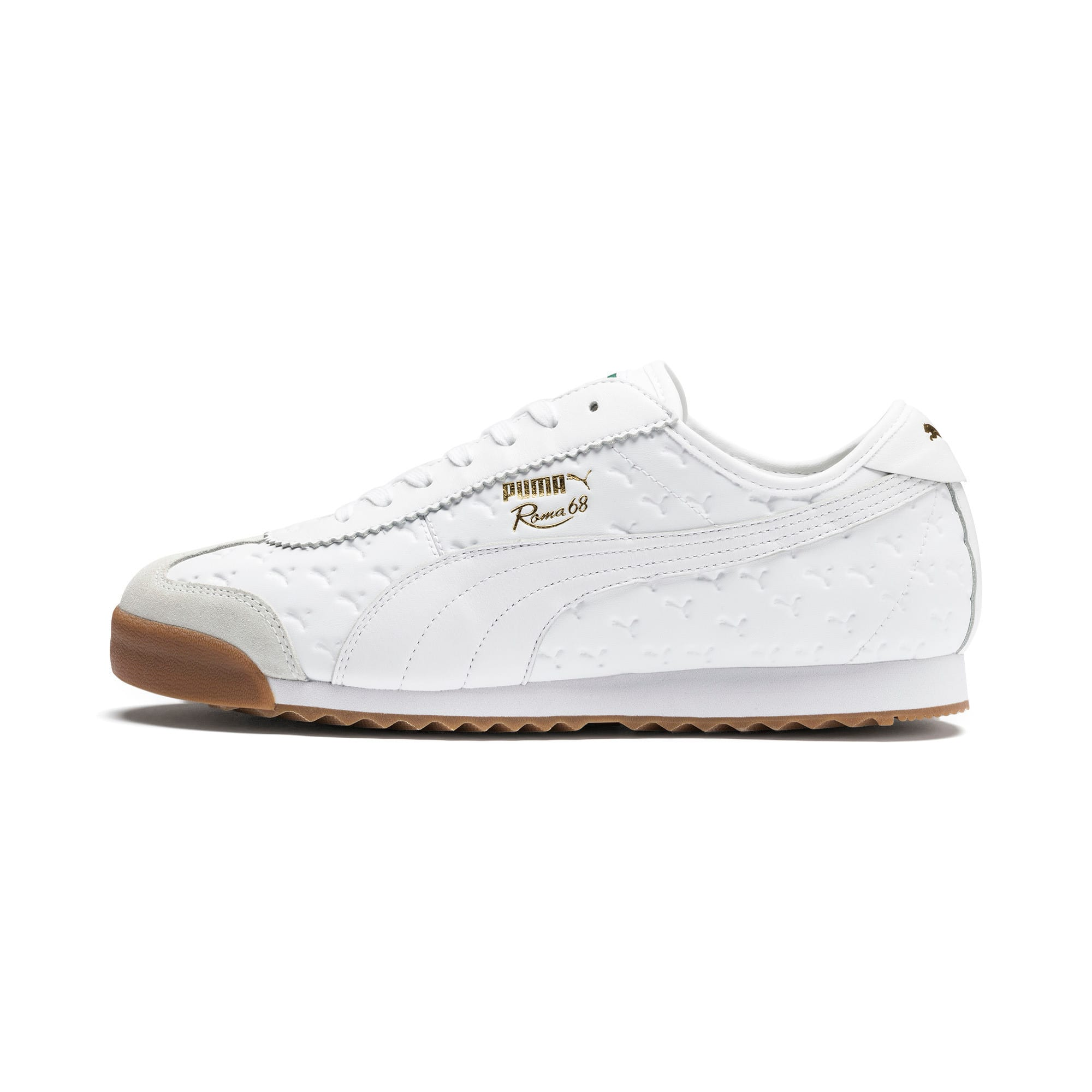Thumbnail 1 of Roma '68 Gum Sneakers, Puma White-Puma White, medium