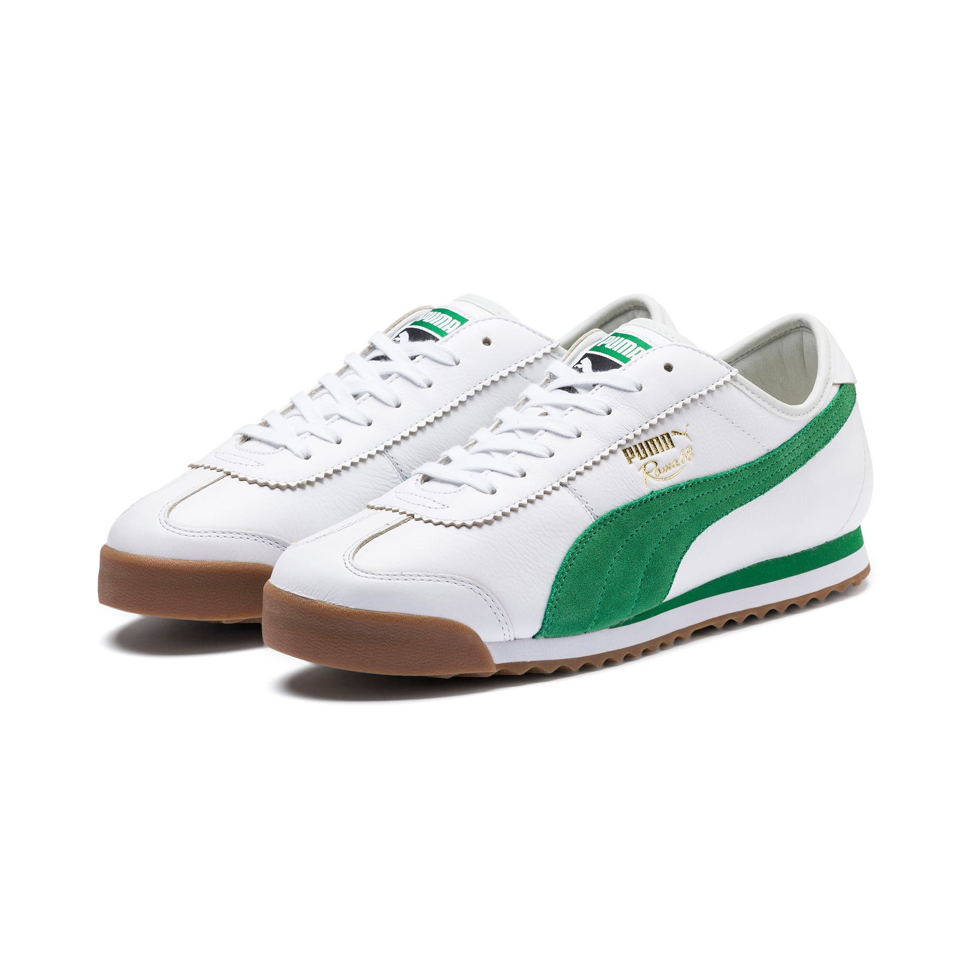 Thumbnail 3 of Roma '68 OG Sneakers, Puma White-Amazon Green, medium