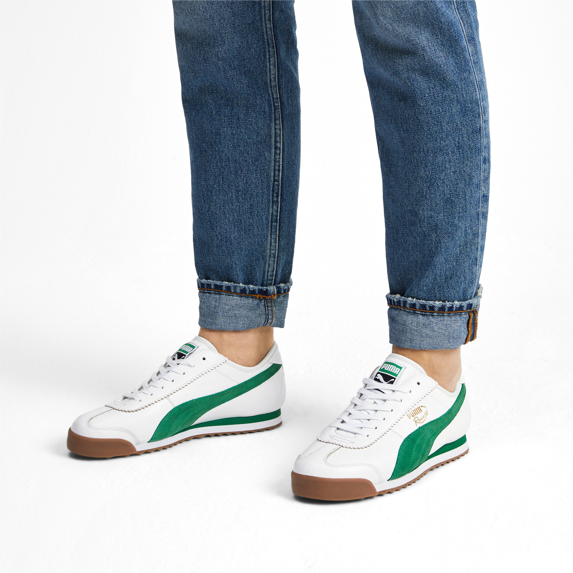 Thumbnail 2 of Roma '68 OG Sneakers, Puma White-Amazon Green, medium