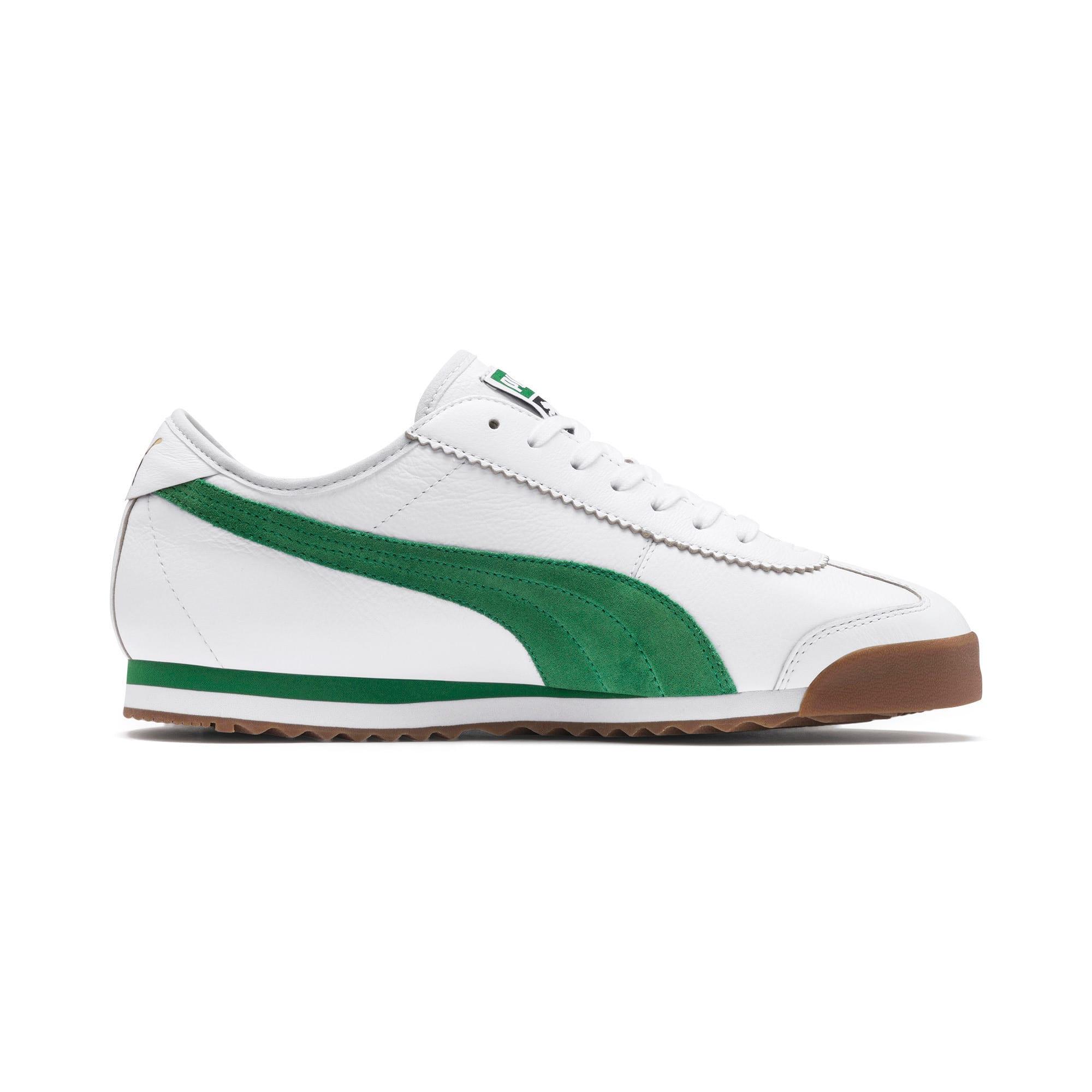 Thumbnail 6 of Roma '68 OG Sneakers, Puma White-Amazon Green, medium
