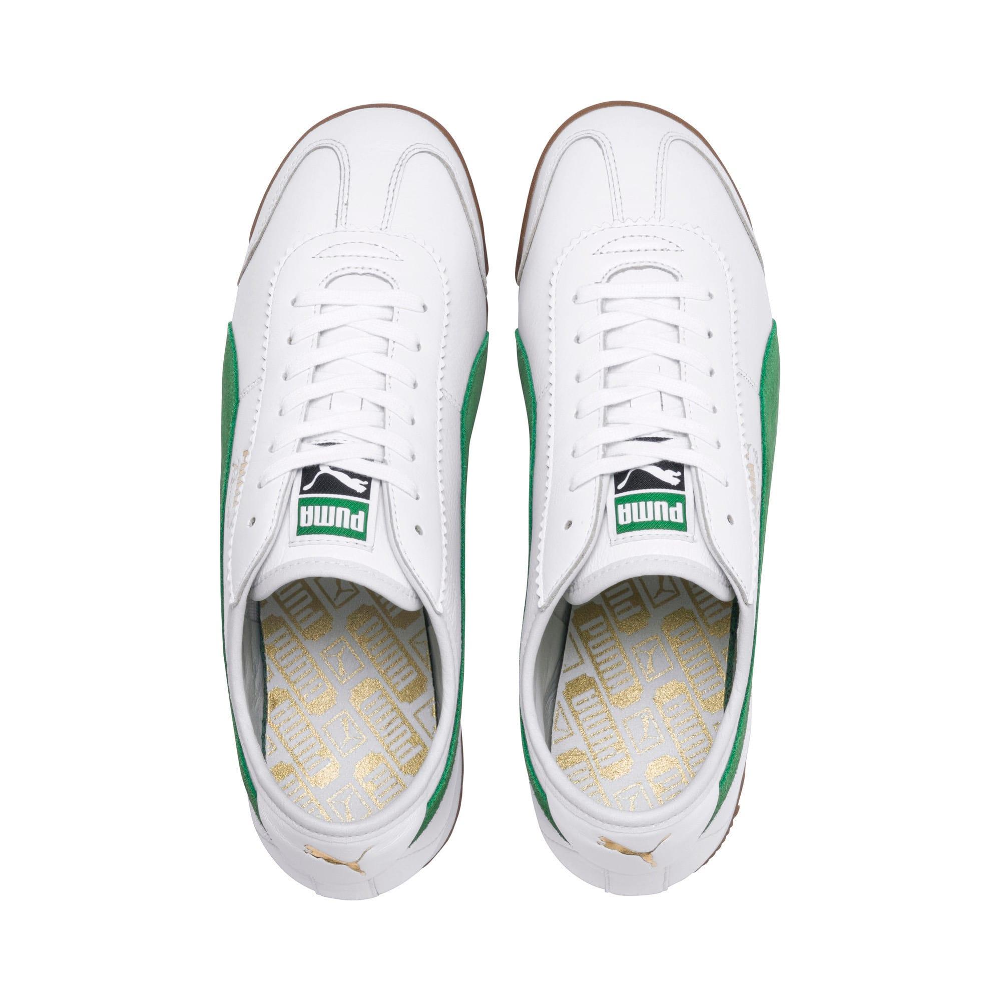 Thumbnail 7 of Roma '68 OG Sneakers, Puma White-Amazon Green, medium