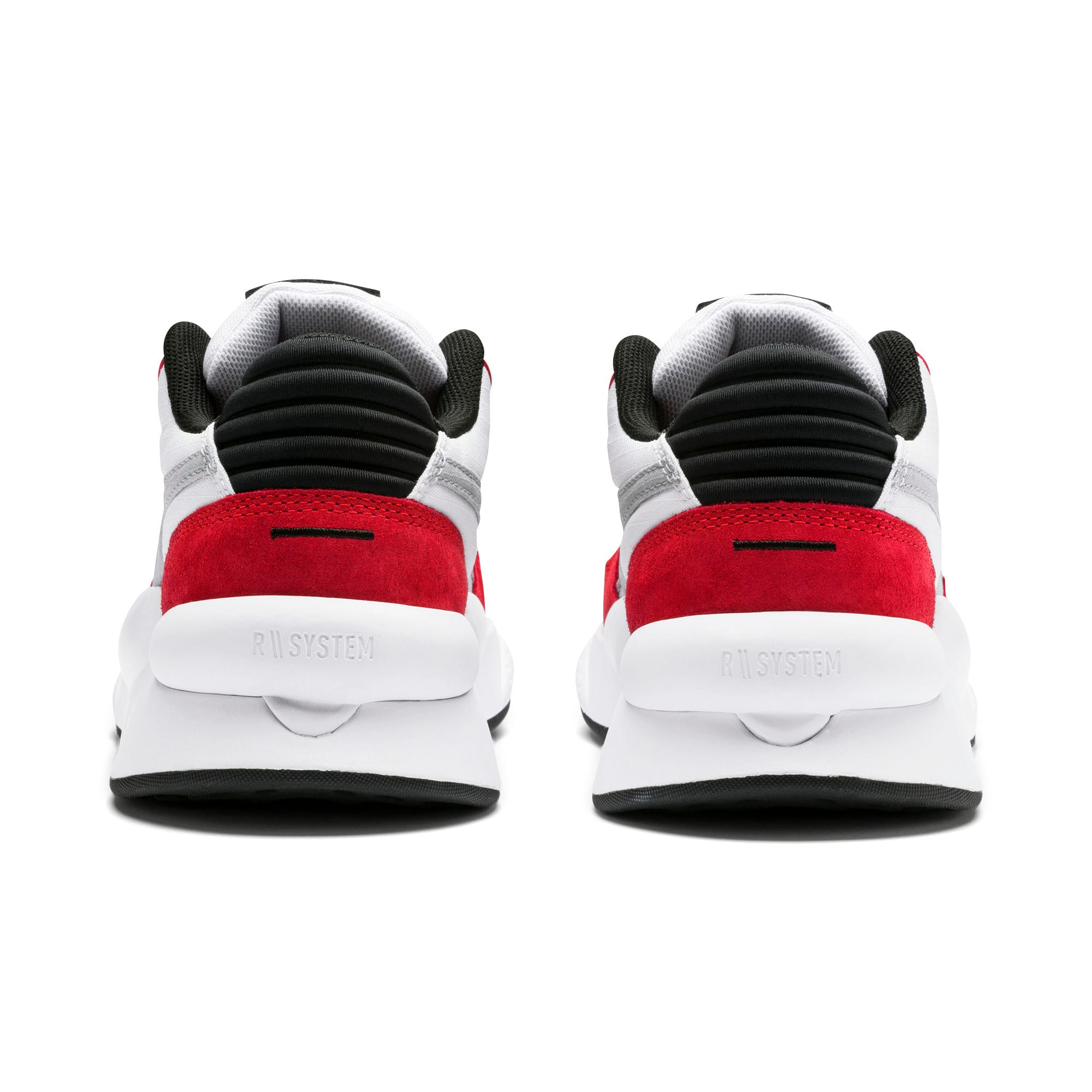 Thumbnail 3 of RS 9.8 Space Youth Trainers, Puma White-High Risk Red, medium