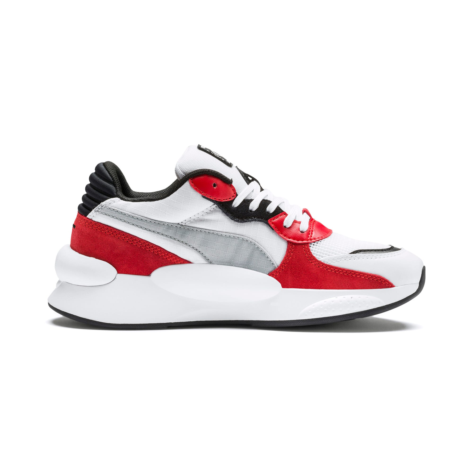 Thumbnail 5 of RS 9.8 Space Youth Trainers, Puma White-High Risk Red, medium