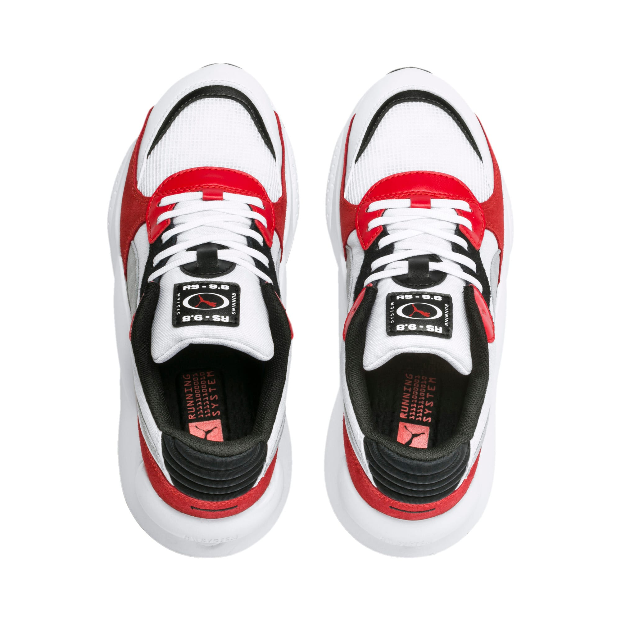 Thumbnail 6 of RS 9.8 Space Youth Trainers, Puma White-High Risk Red, medium