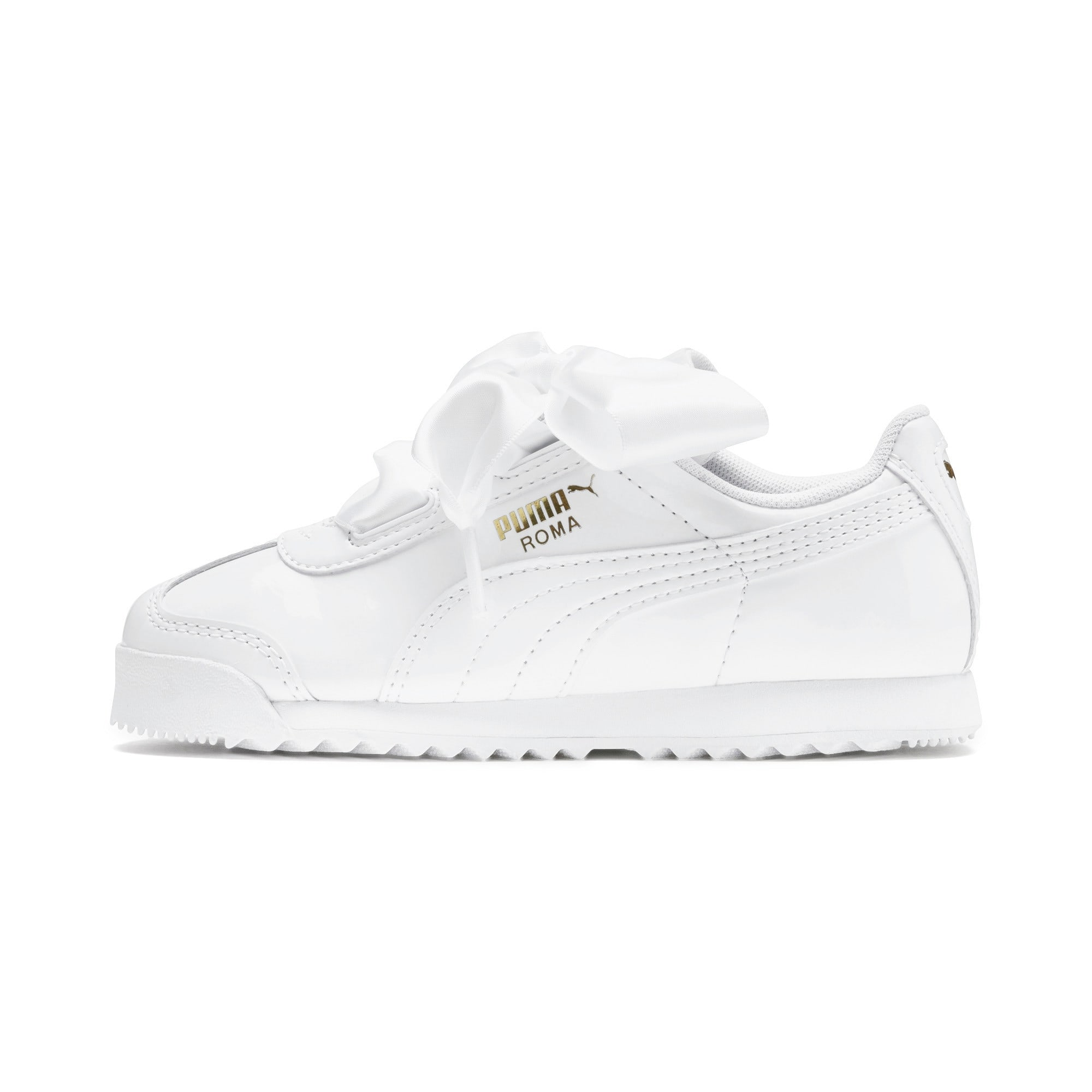 Thumbnail 1 of Roma Heart Patent Kids Sneaker, Puma White, medium