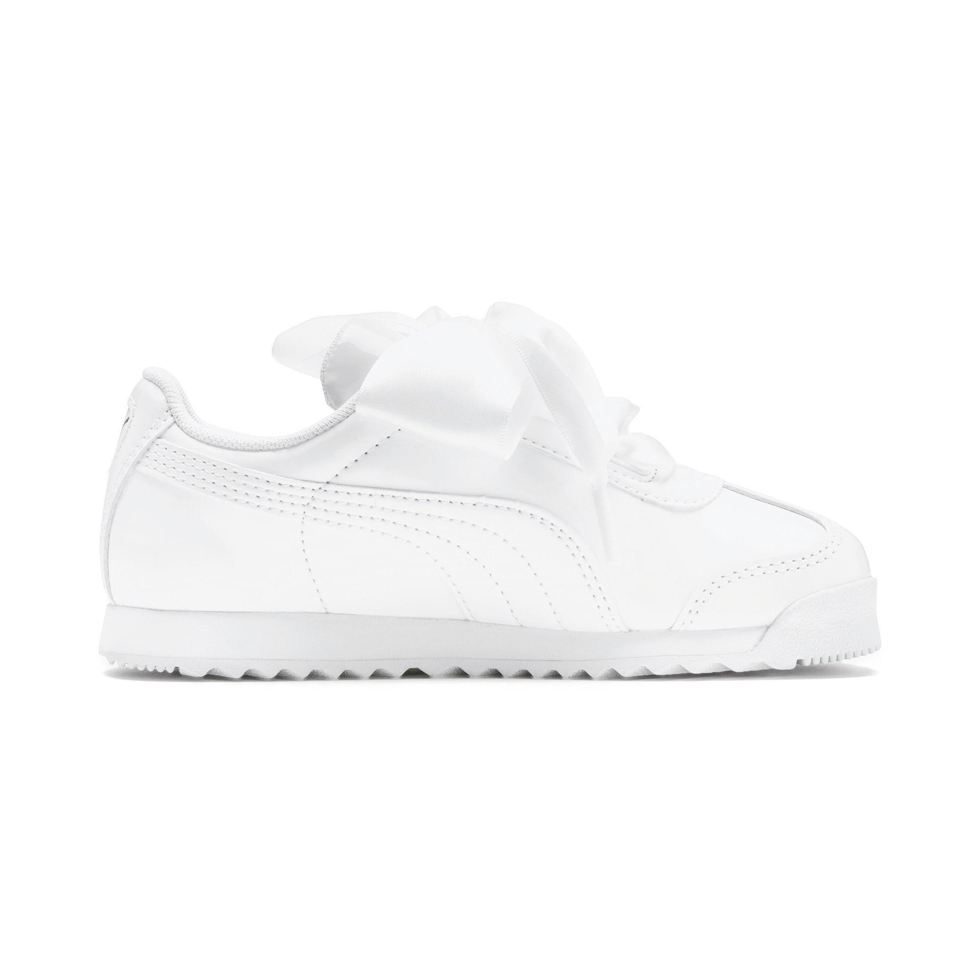 Thumbnail 5 of Roma Heart Patent Kids Sneaker, Puma White, medium