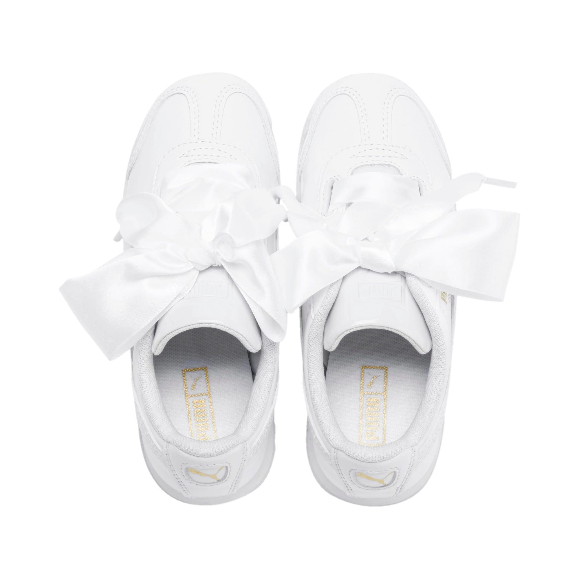 Thumbnail 6 of Roma Heart Patent Kids Sneaker, Puma White, medium