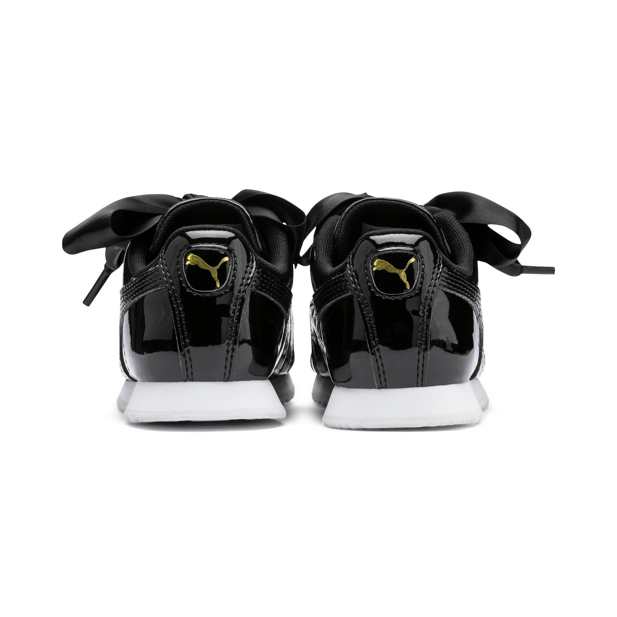 Thumbnail 3 of Roma Heart Patent Kids Sneaker, Puma Black, medium