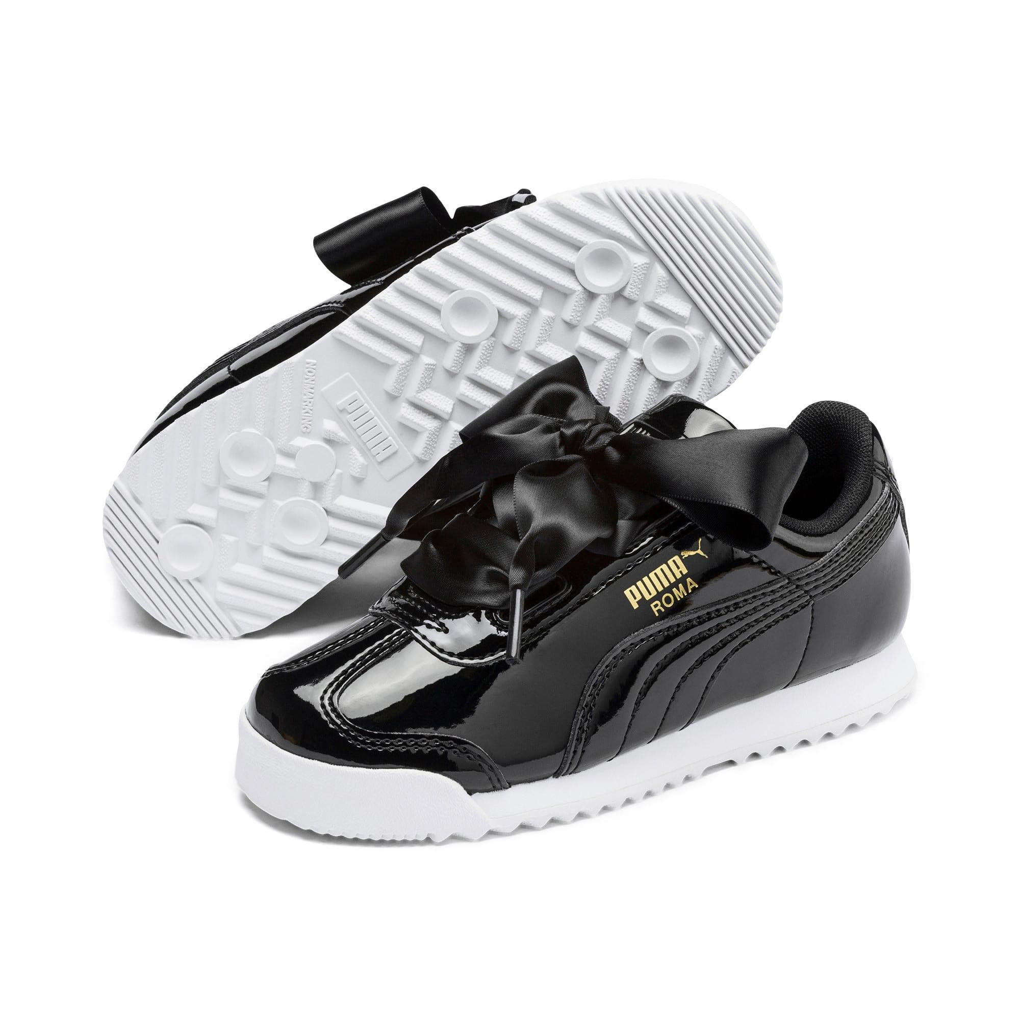 Thumbnail 2 of Roma Heart Patent Kids Sneaker, Puma Black, medium