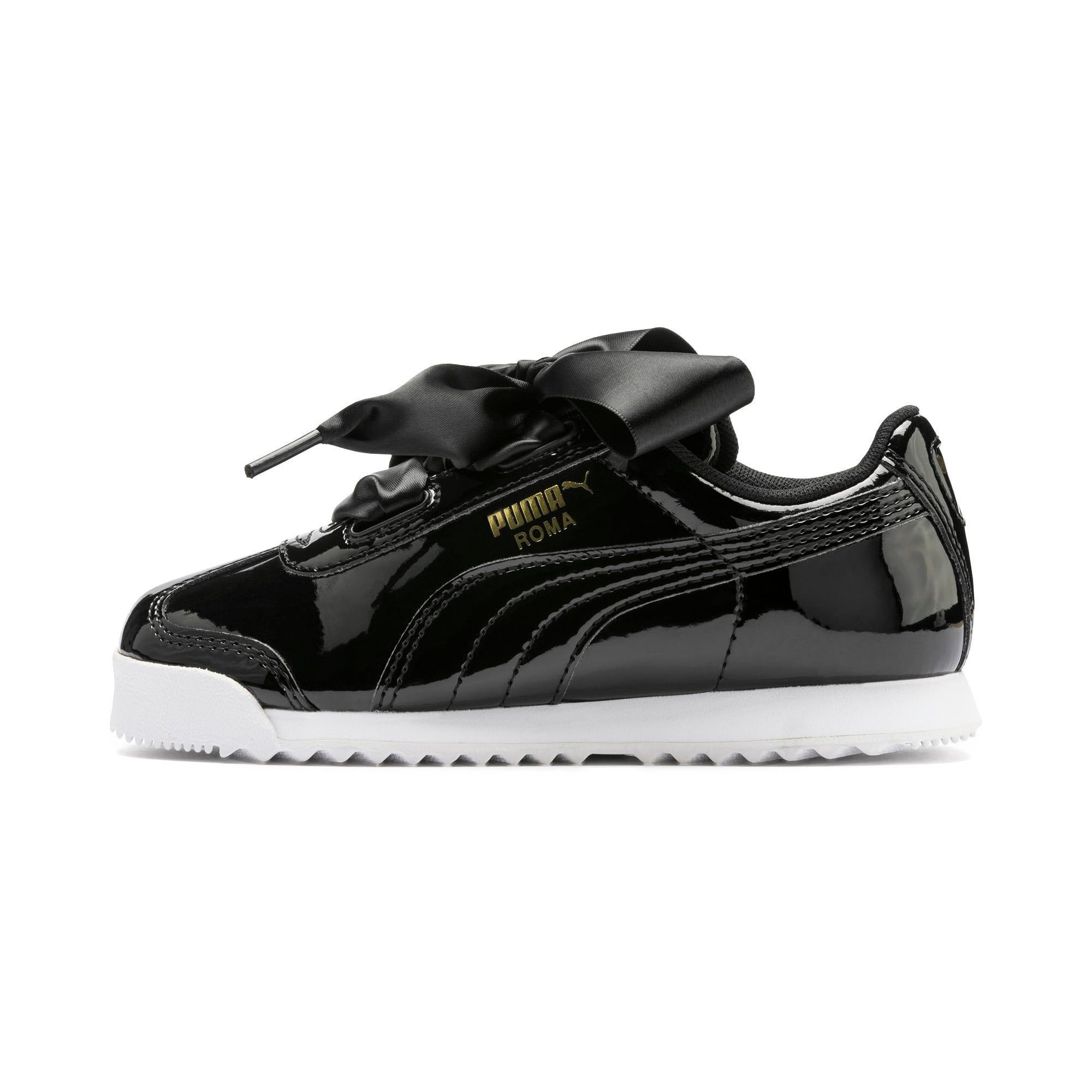 Thumbnail 1 of Roma Heart Patent Kids Sneaker, Puma Black, medium
