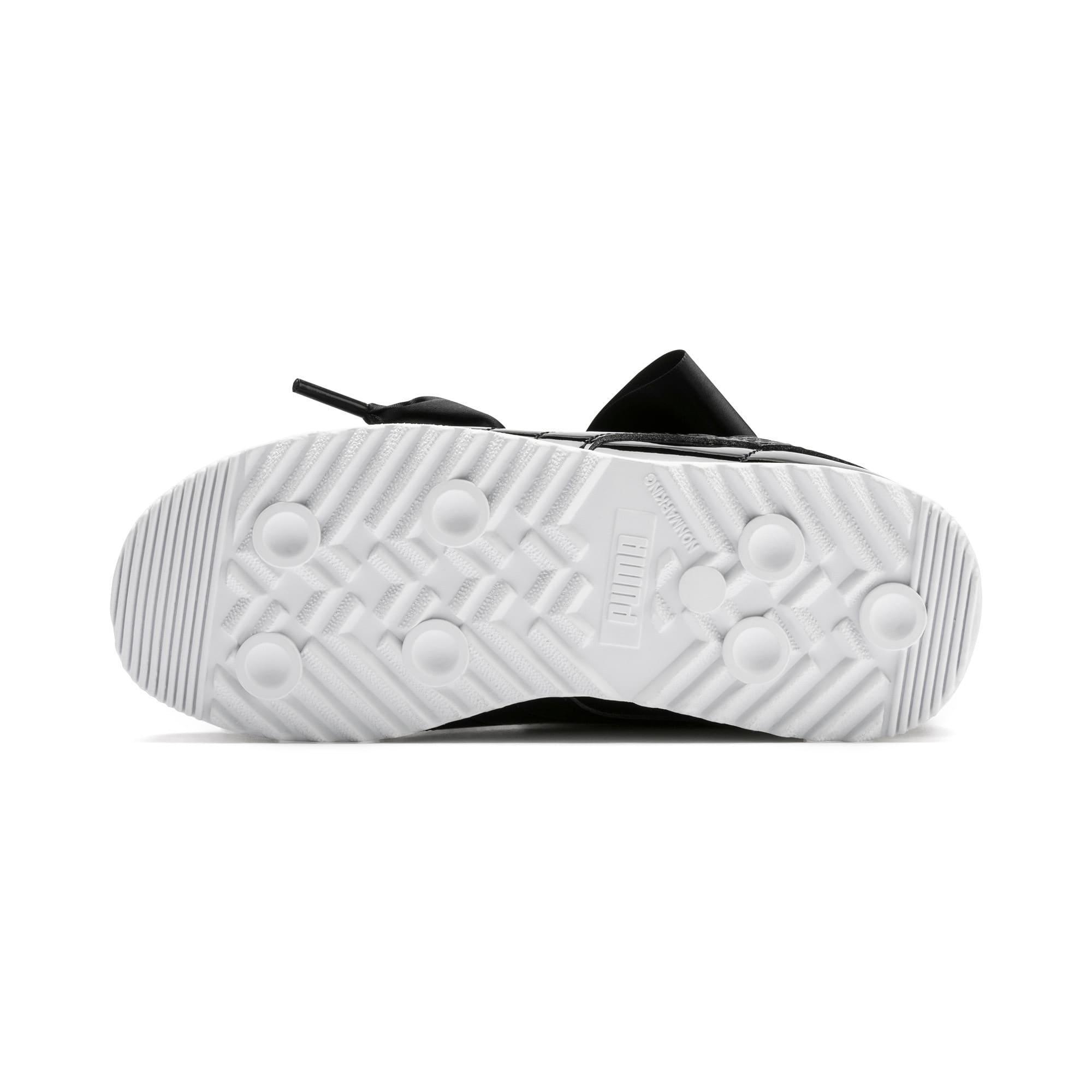 Thumbnail 4 of Roma Heart Patent Kids Sneaker, Puma Black, medium