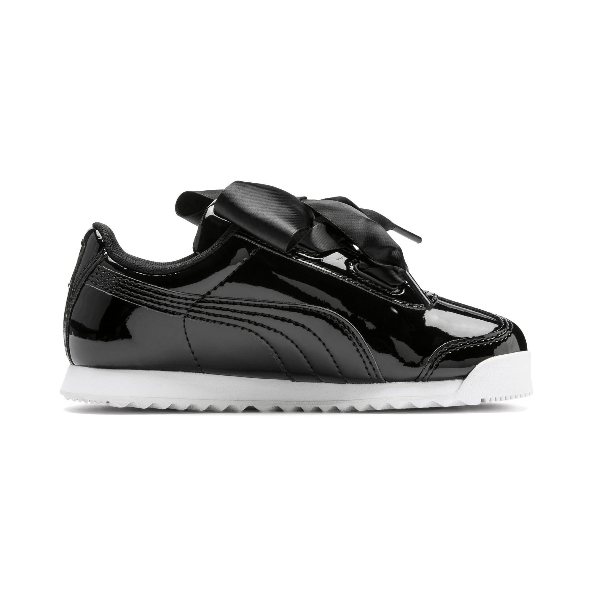 Thumbnail 5 of Roma Heart Patent Kids Sneaker, Puma Black, medium