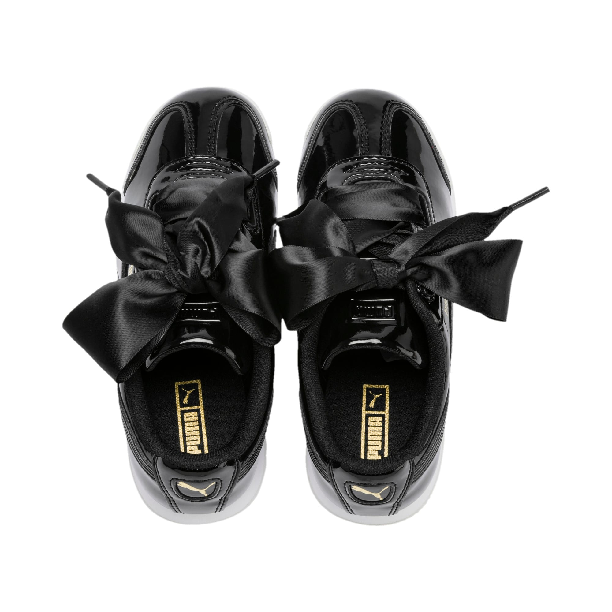 Thumbnail 6 of Roma Heart Patent Kids Sneaker, Puma Black, medium