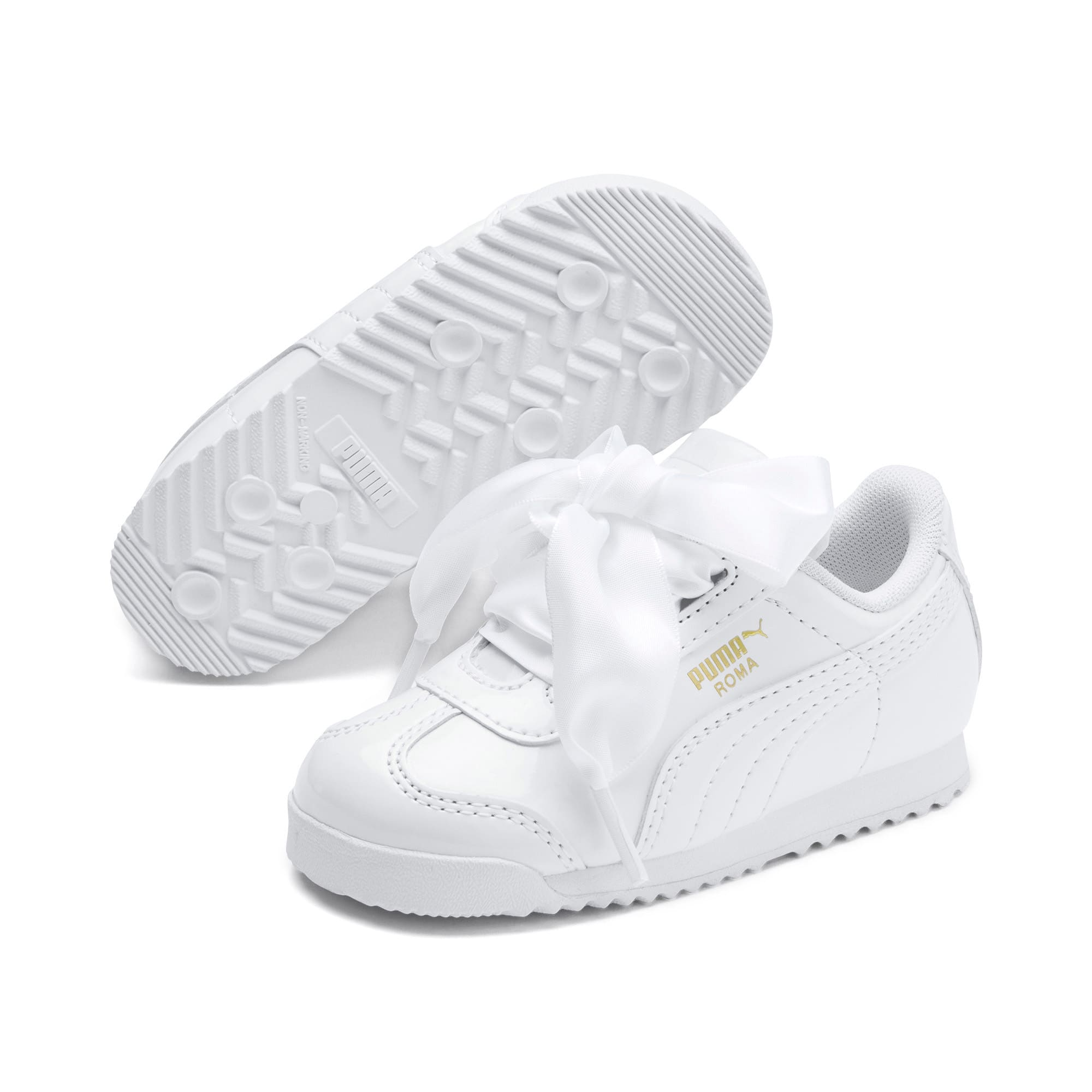 Thumbnail 2 of Roma Heart Patent Babies' Trainers, Puma White, medium