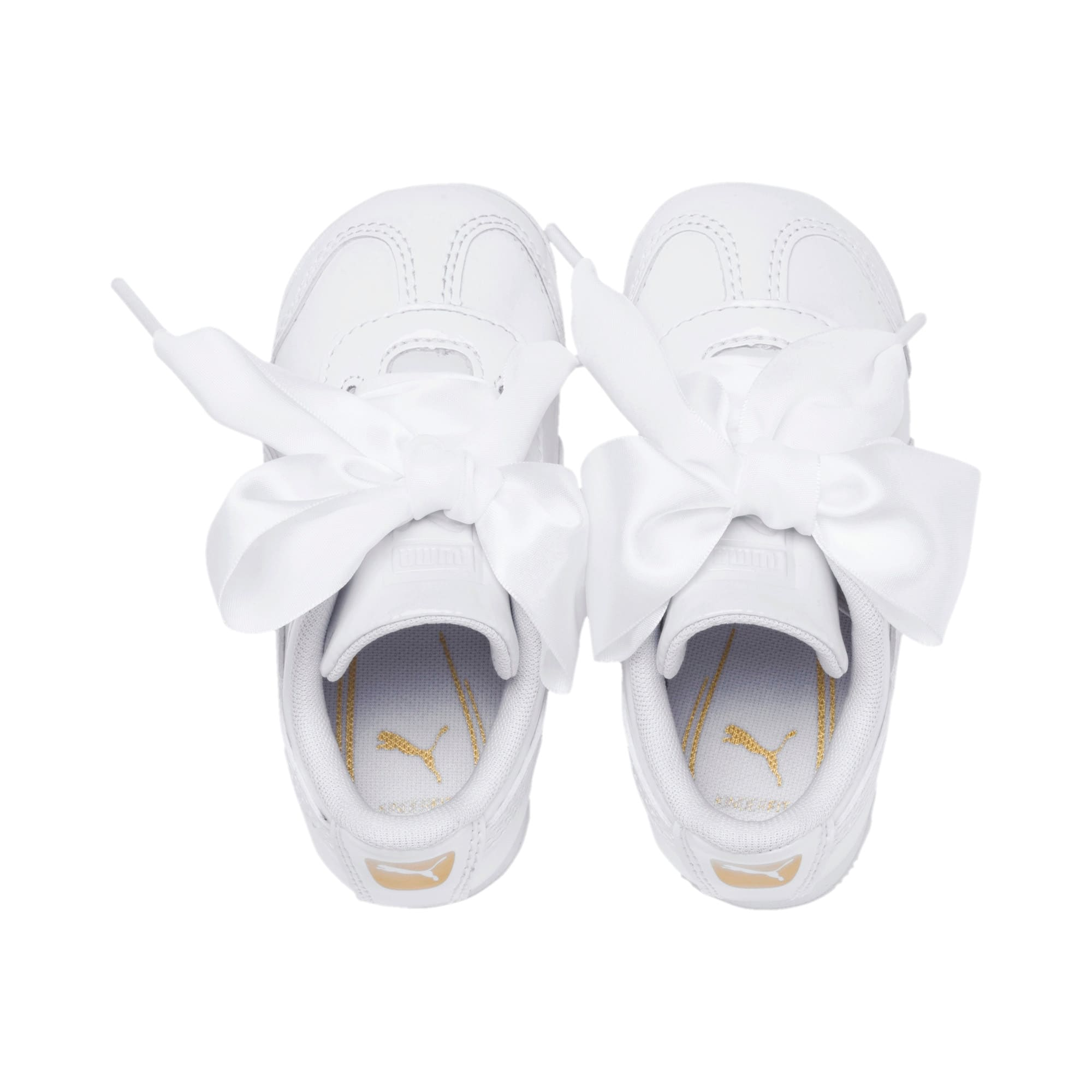 Thumbnail 6 of Roma Heart Patent Babies' Trainers, Puma White, medium