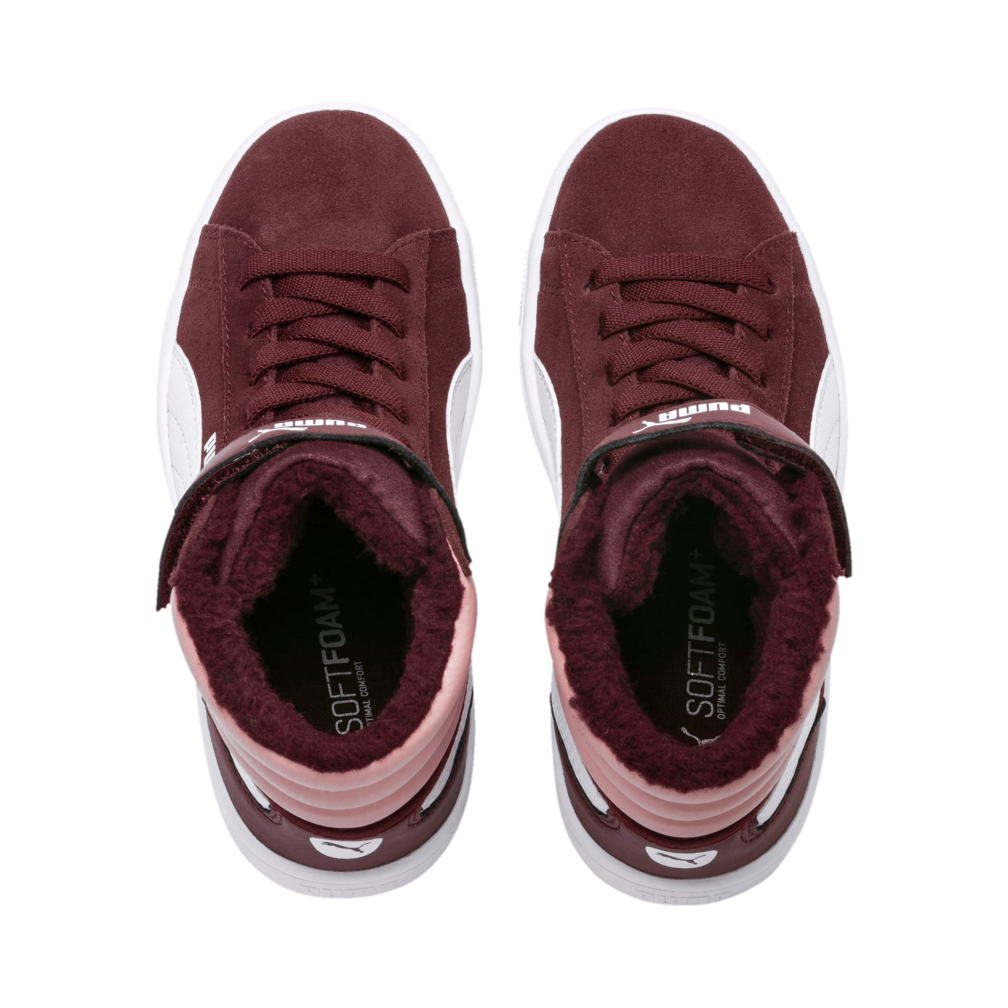 Thumbnail 6 of Vikky v2 Mid Fur V Kids' Trainers, Vineyard Wine-B Rose-White, medium