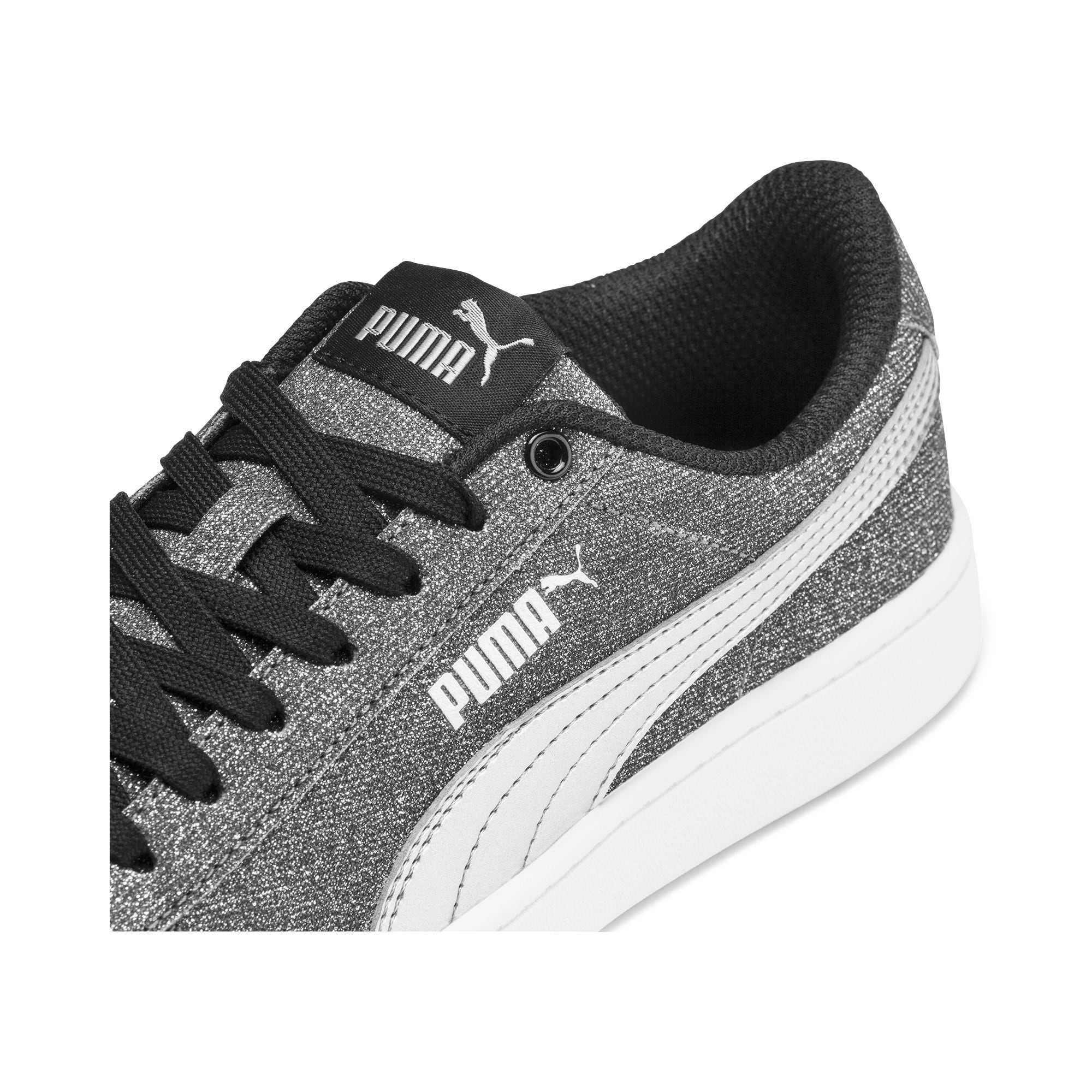 Thumbnail 7 of PUMA Vikky v2 Glitz Sneakers JR, Puma Black-Puma Silver-White, medium