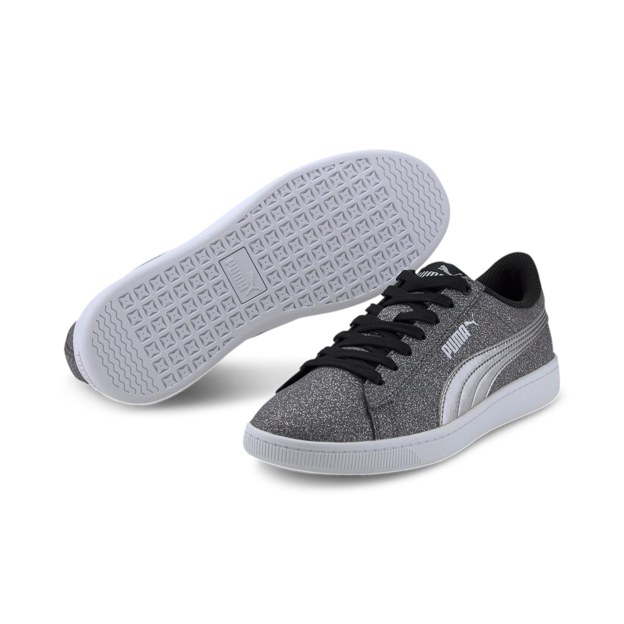 Thumbnail 2 of PUMA Vikky v2 Glitz Sneakers JR, Puma Black-Puma Silver-White, medium