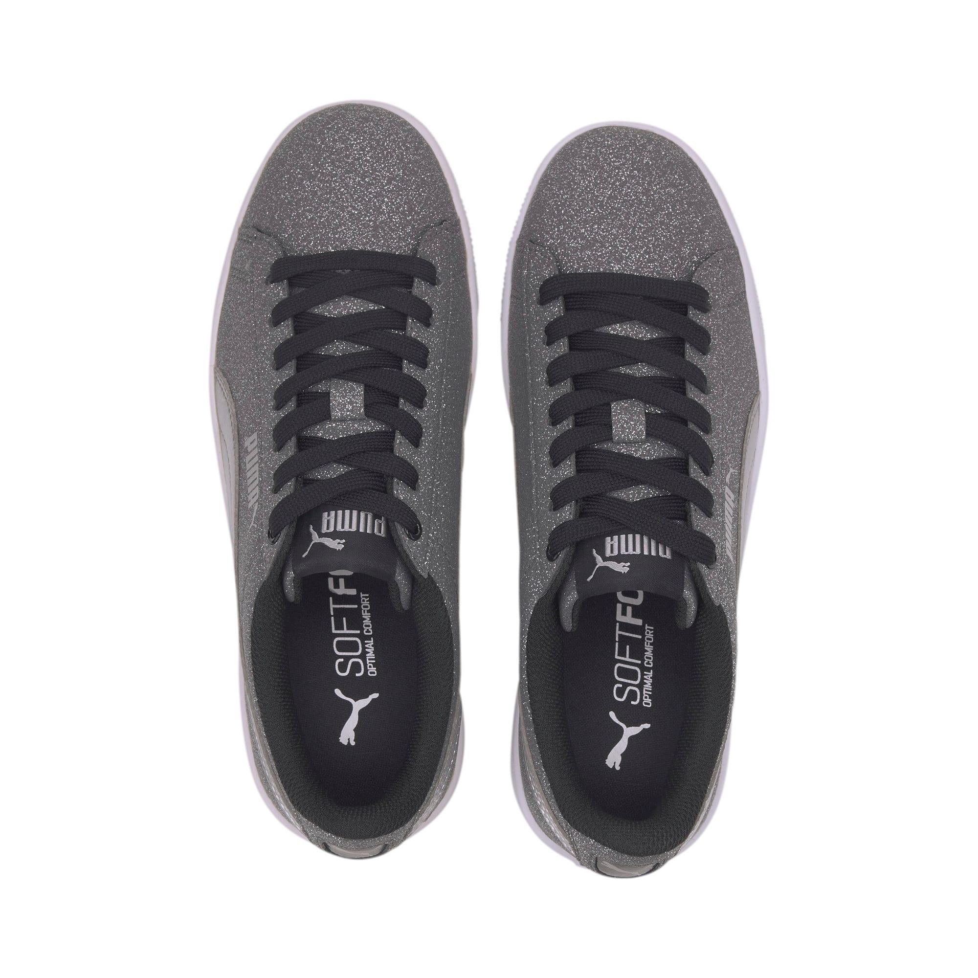Thumbnail 6 of PUMA Vikky v2 Glitz Sneakers JR, Puma Black-Puma Silver-White, medium