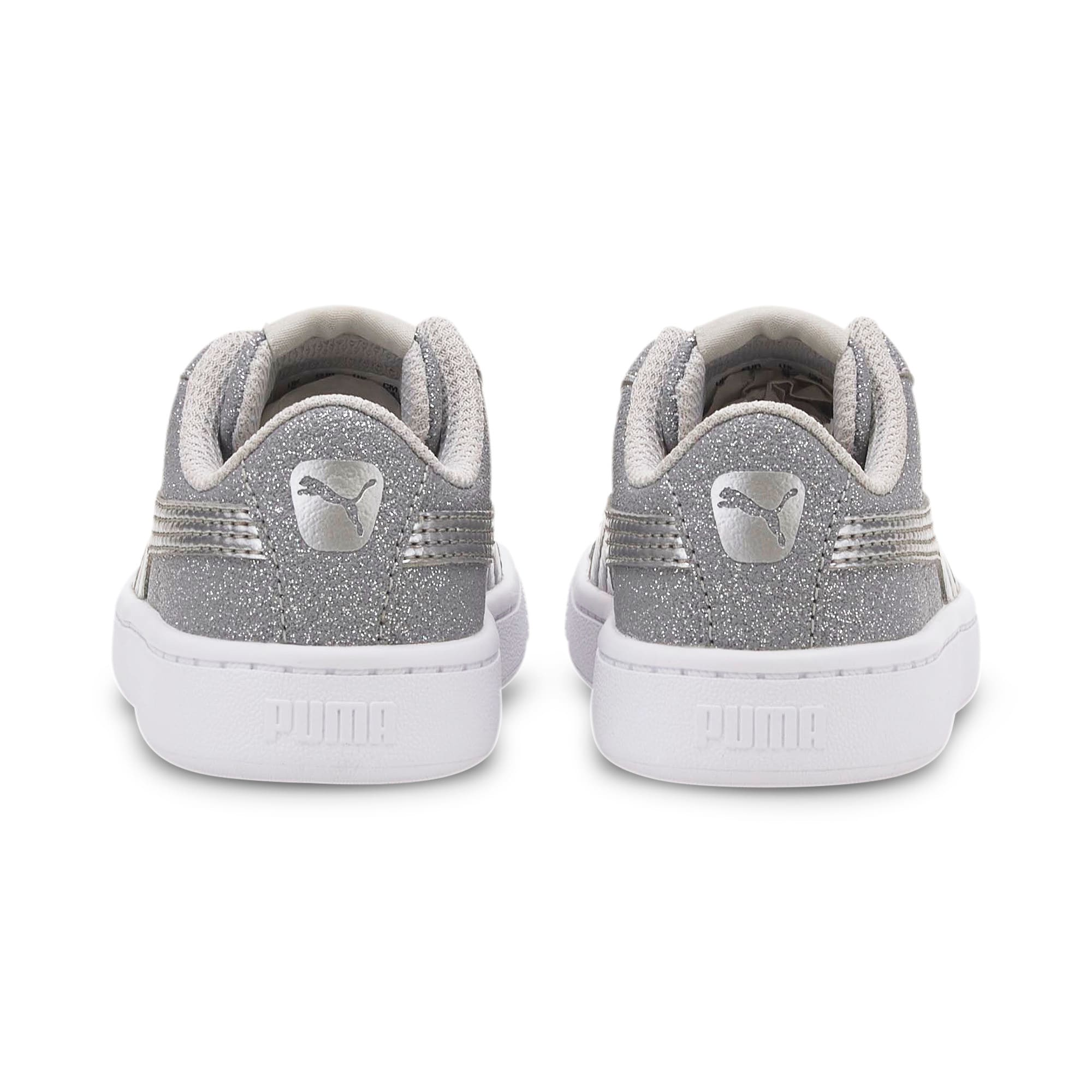 Thumbnail 3 of PUMA Vikky v2 Glitz AC Sneakers INF, Gray Violet-Silver-White, medium