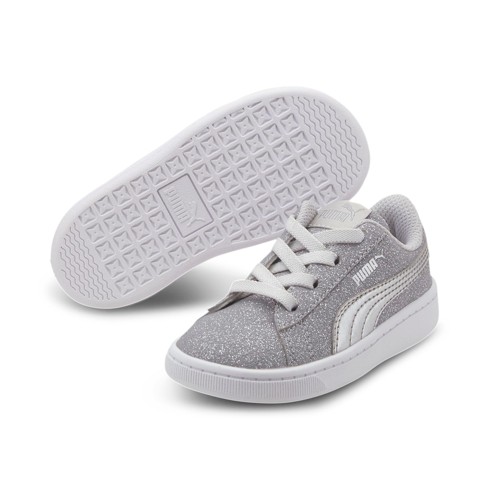 Thumbnail 2 of PUMA Vikky v2 Glitz AC Sneakers INF, Gray Violet-Silver-White, medium