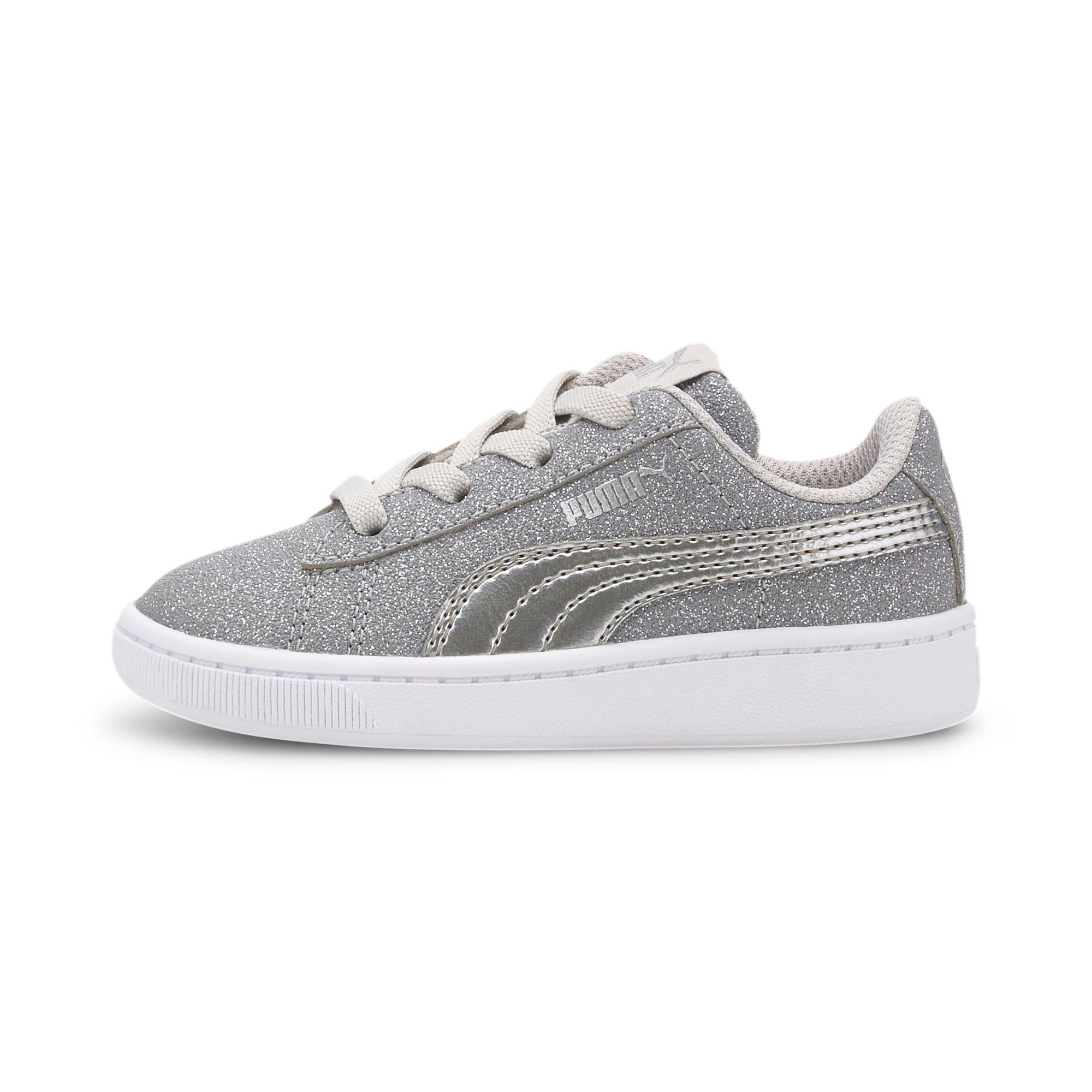 Thumbnail 1 of PUMA Vikky v2 Glitz AC Sneakers INF, Gray Violet-Silver-White, medium