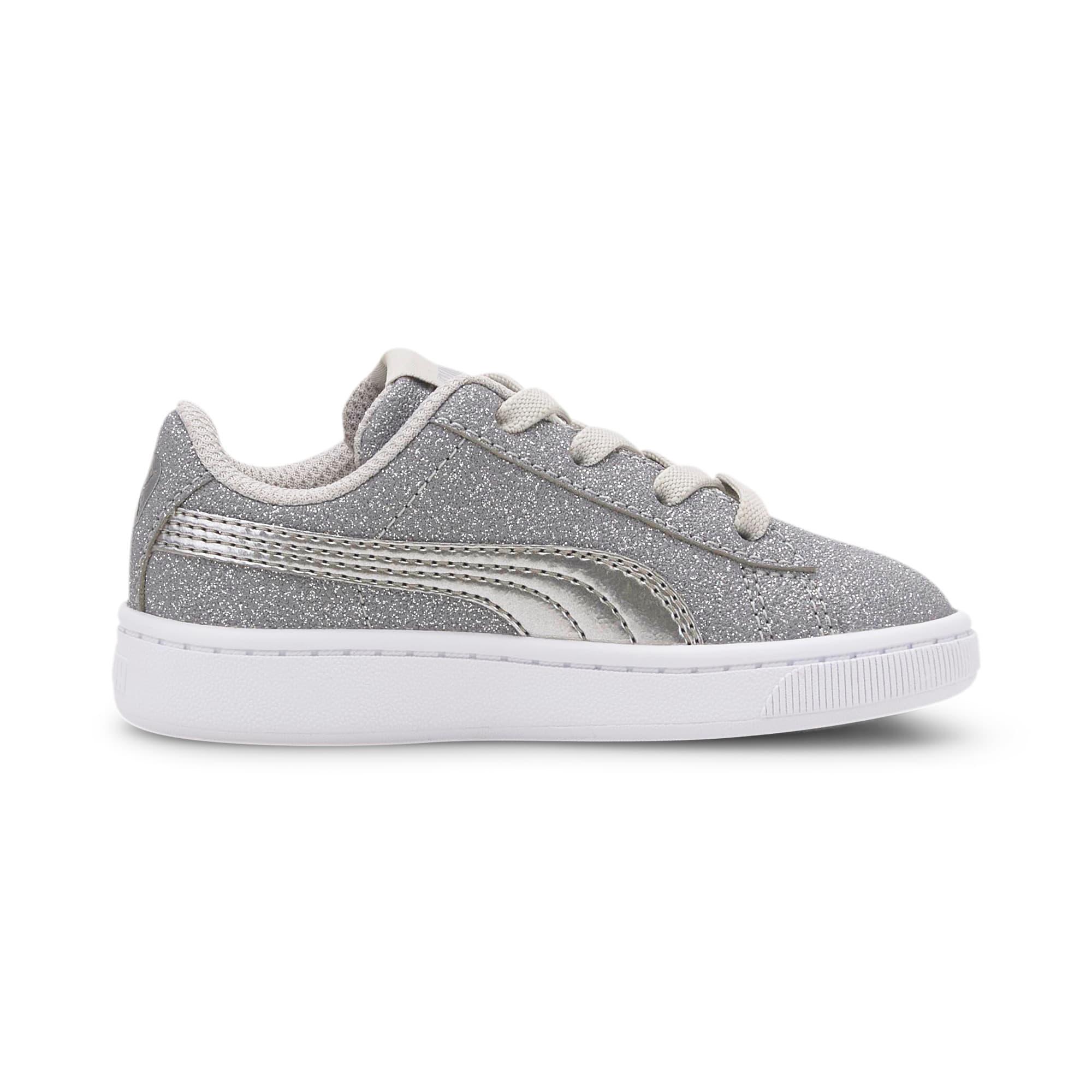 Thumbnail 5 of PUMA Vikky v2 Glitz AC Sneakers INF, Gray Violet-Silver-White, medium