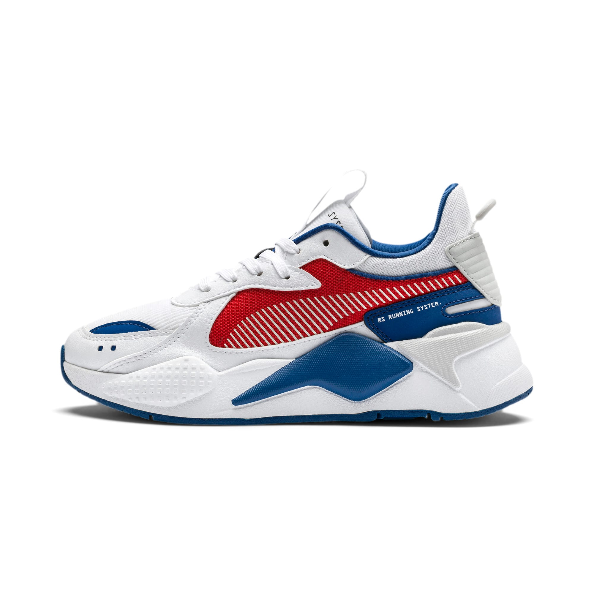 Thumbnail 1 of RS-X Hard Drive Sneakers JR, Puma White-High Risk Red, medium