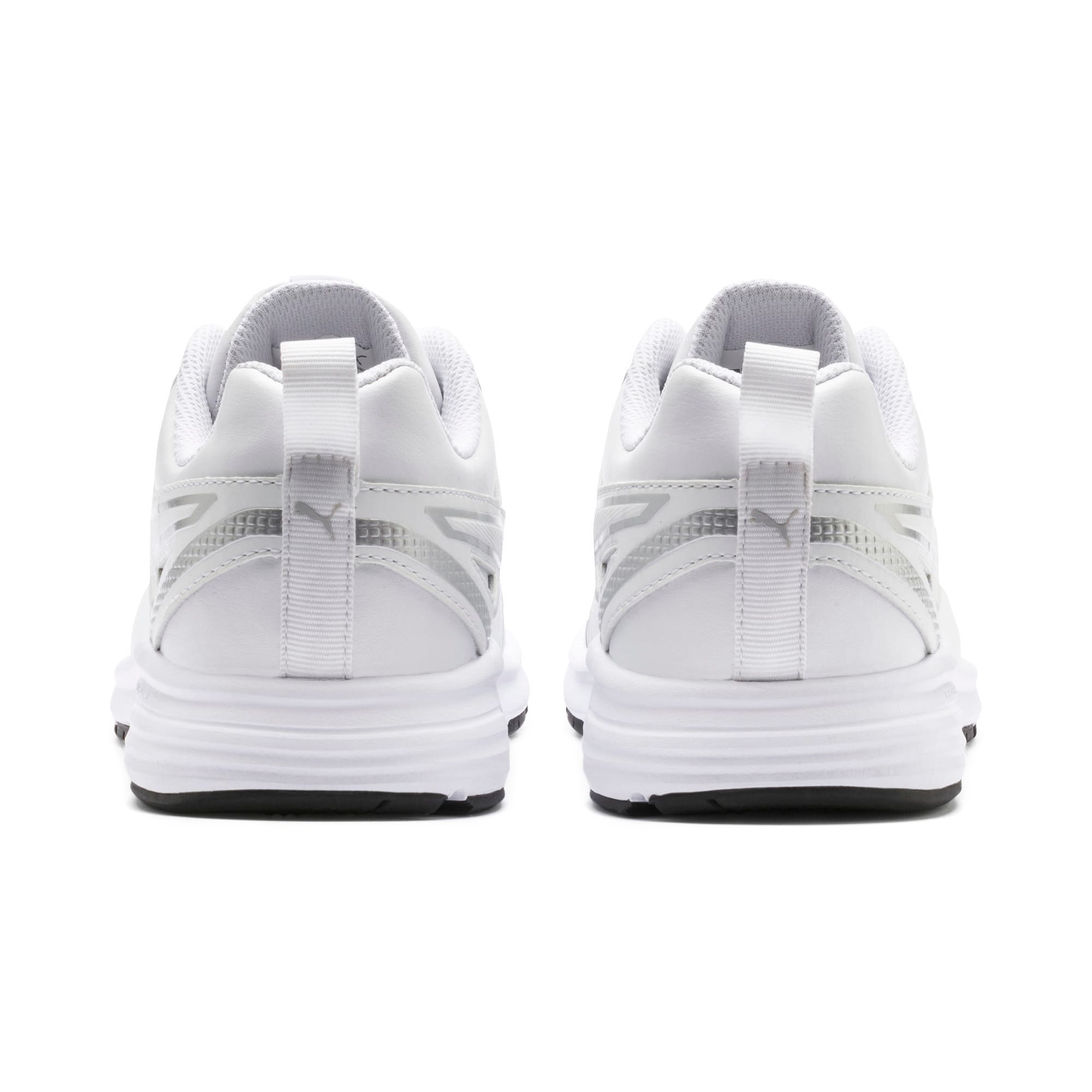 Thumbnail 3 of Pure Jogger Youth Trainers, White-Silver-Black-G Violet, medium-IND