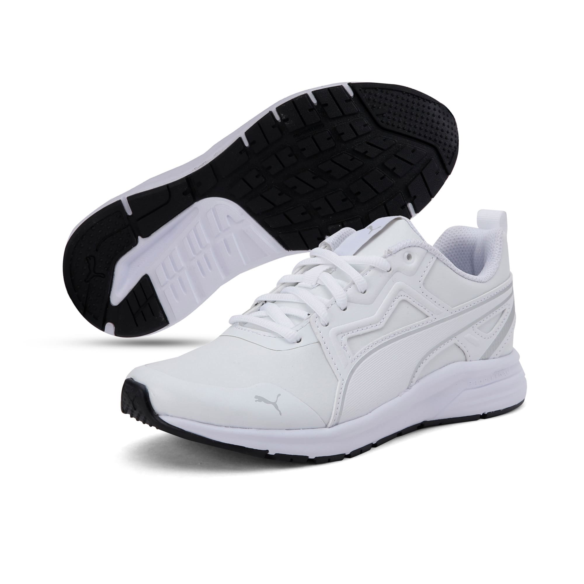 Thumbnail 2 of Pure Jogger Youth Trainers, White-Silver-Black-G Violet, medium-IND