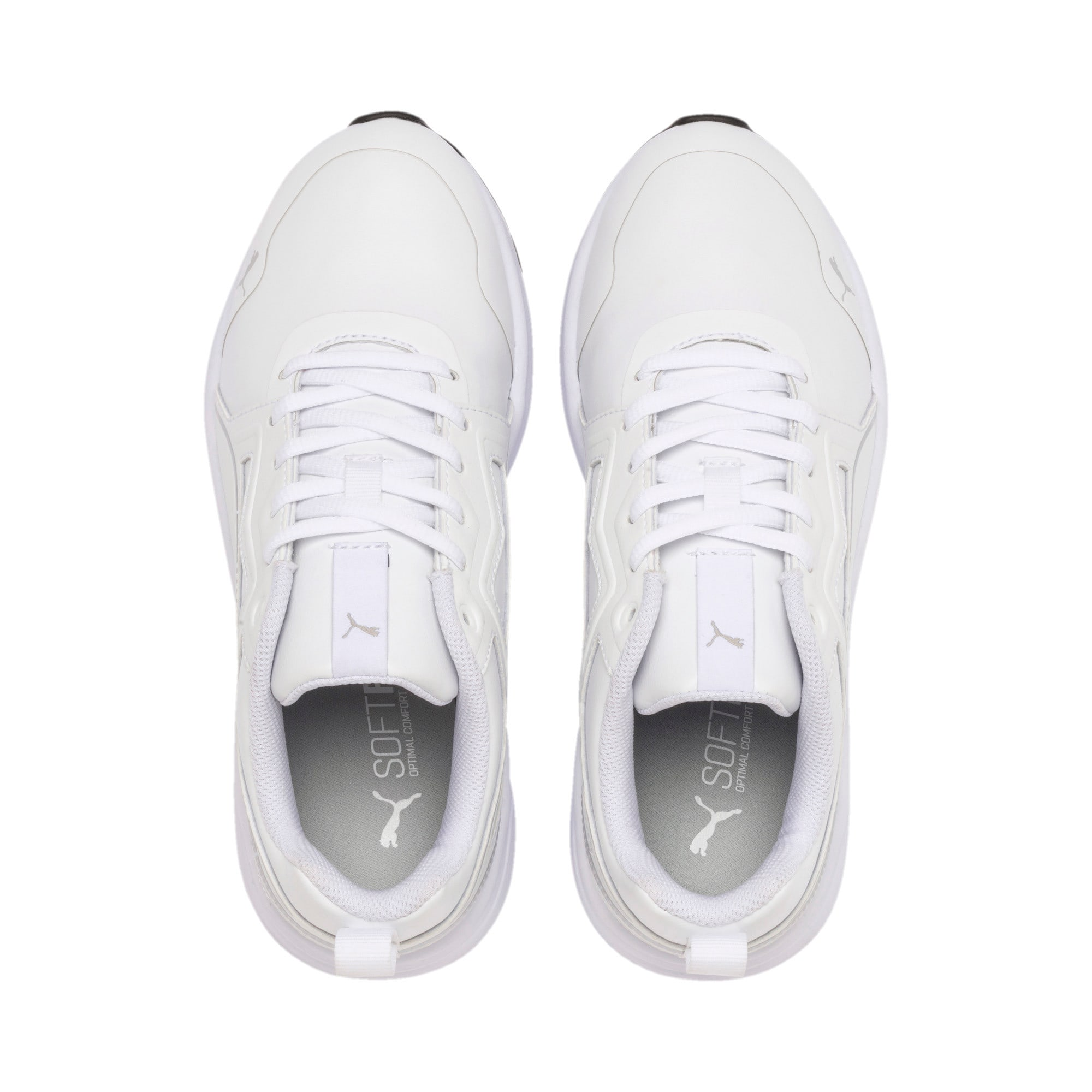 Thumbnail 6 of Pure Jogger Youth Trainers, White-Silver-Black-G Violet, medium-IND