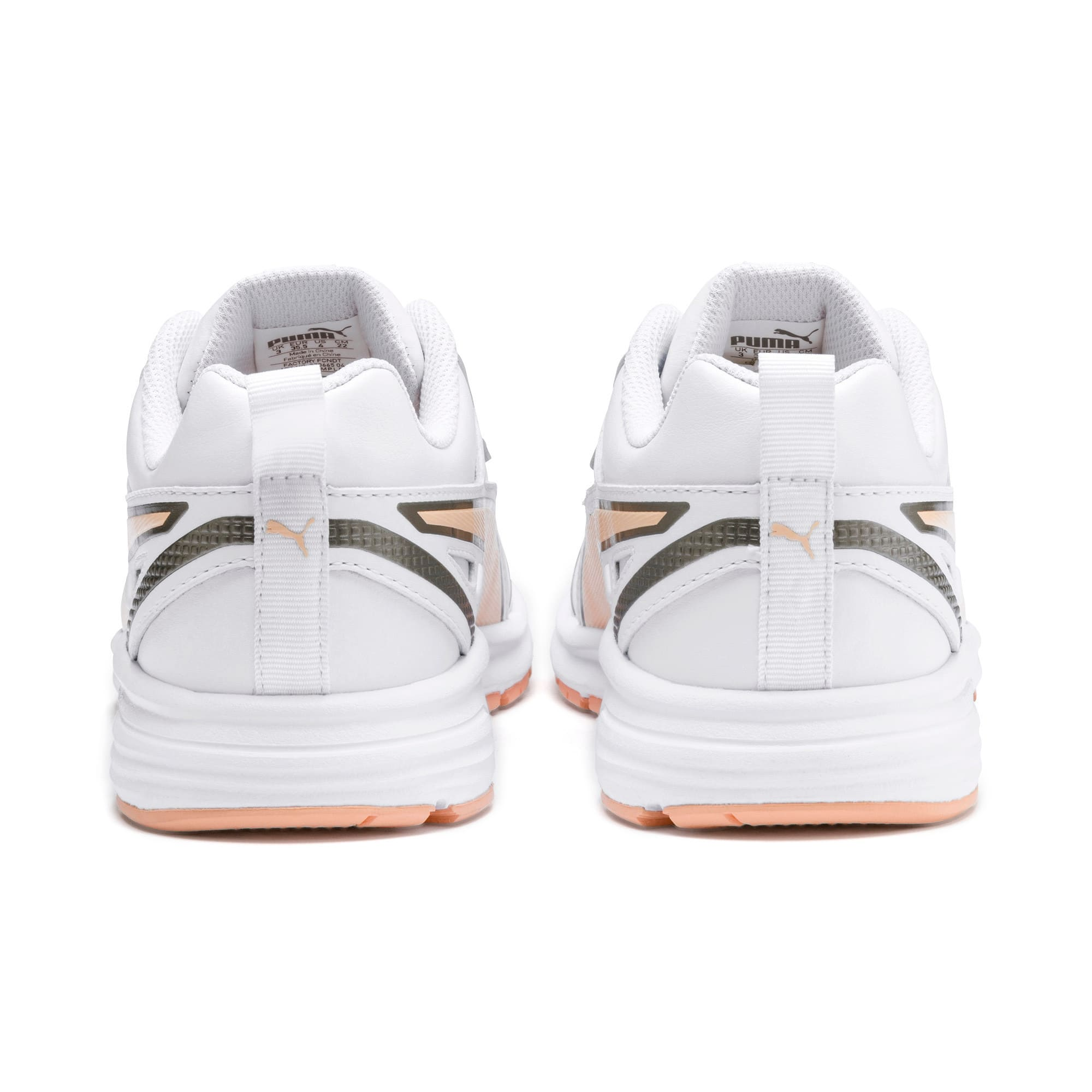 Thumbnail 3 of Pure Jogger Youth Trainers, White-Peach Parfait-A Silver, medium-IND