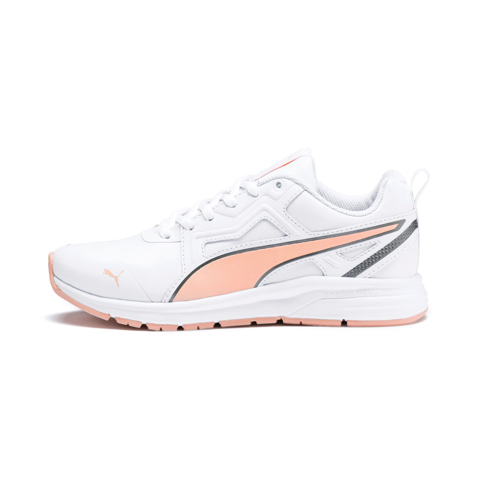 Thumbnail 1 of Pure Jogger Youth Trainers, White-Peach Parfait-A Silver, medium-IND