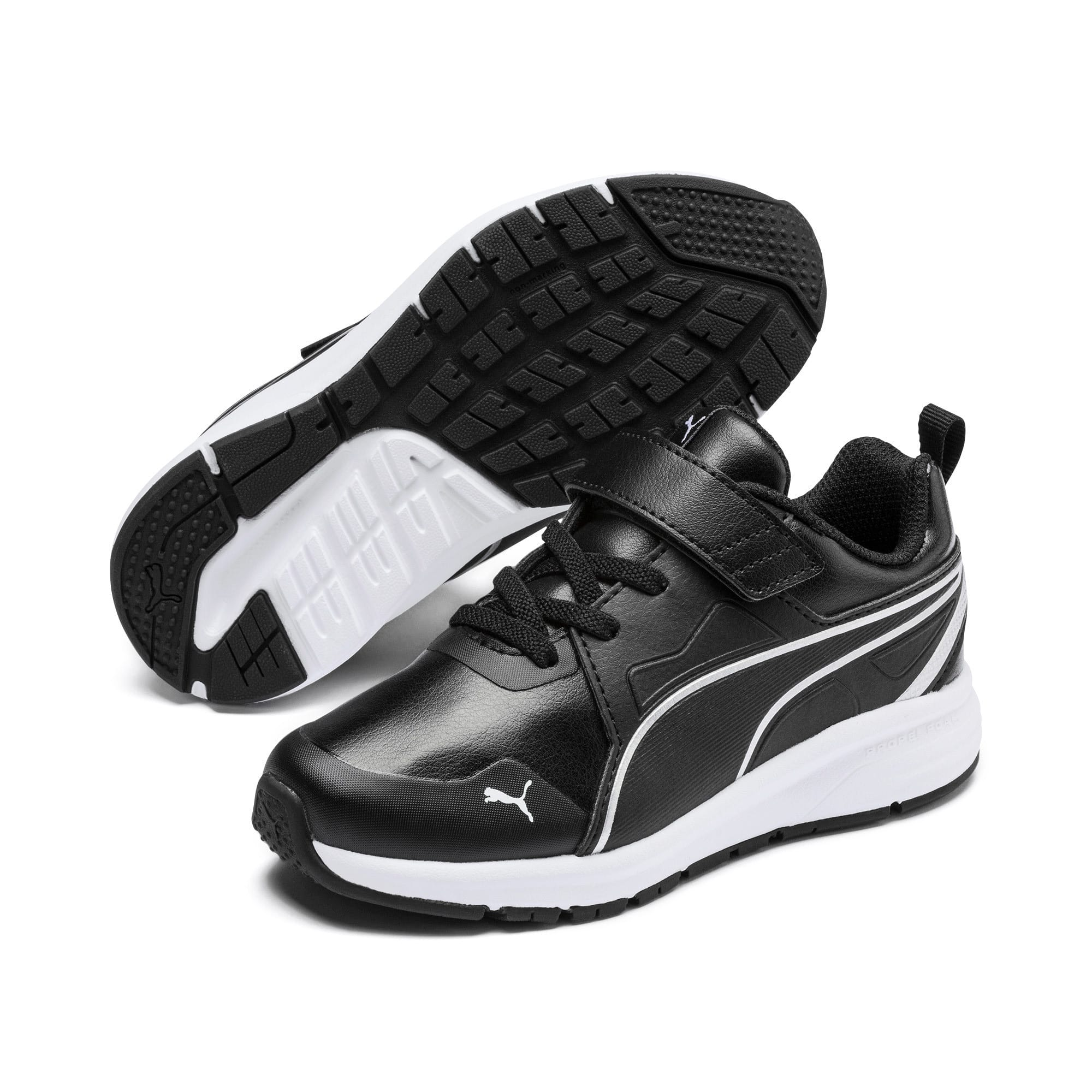 Thumbnail 2 of Pure Jogger SL Kids' Trainers, Puma Black-Puma Silver-White, medium-IND