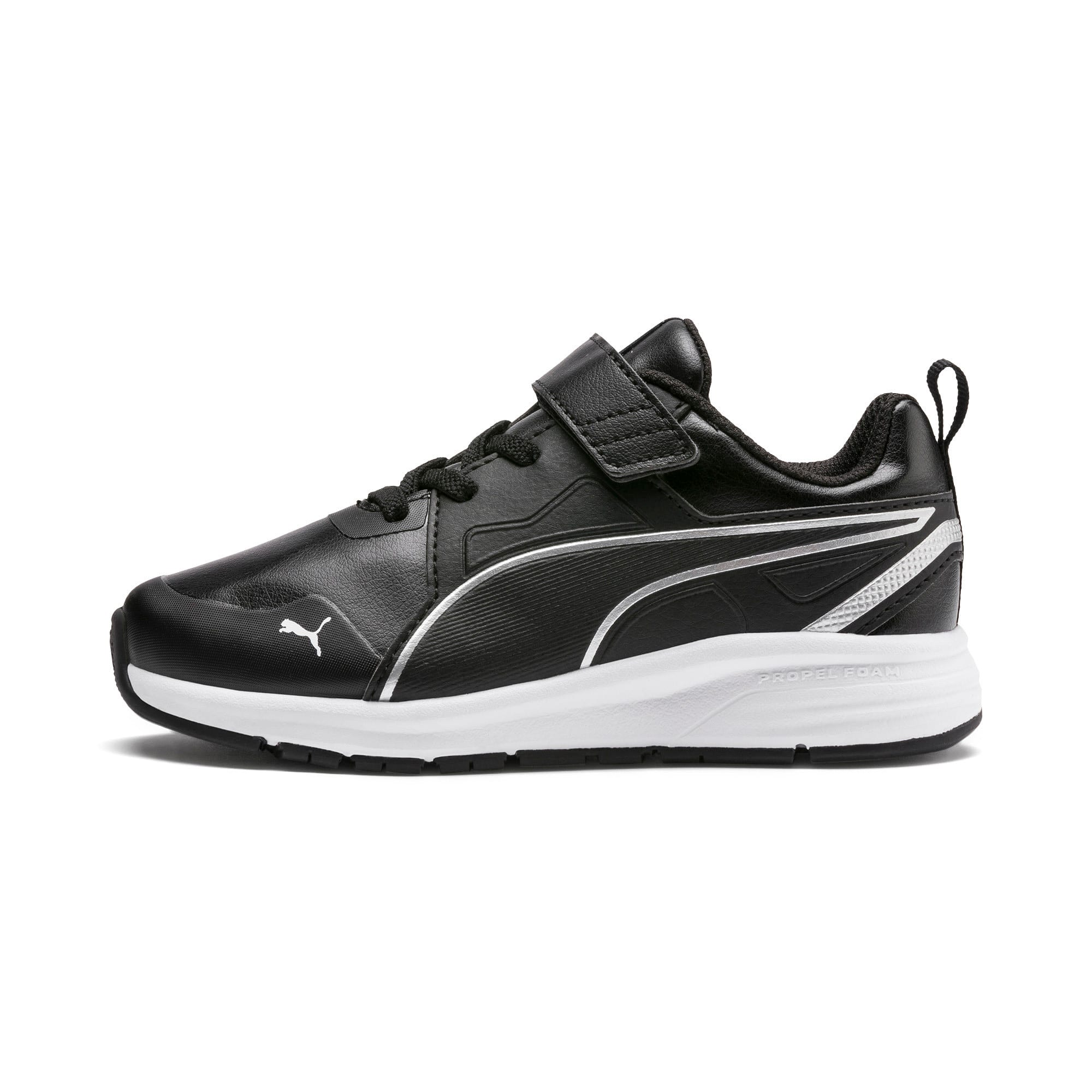 Thumbnail 1 of Pure Jogger SL Kids' Trainers, Puma Black-Puma Silver-White, medium-IND