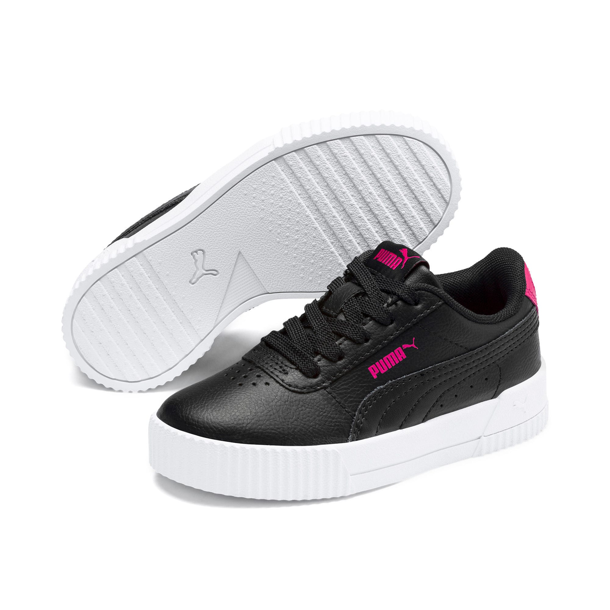 Thumbnail 2 of Carina L Kids' Trainers, Puma Black-Puma Black, medium