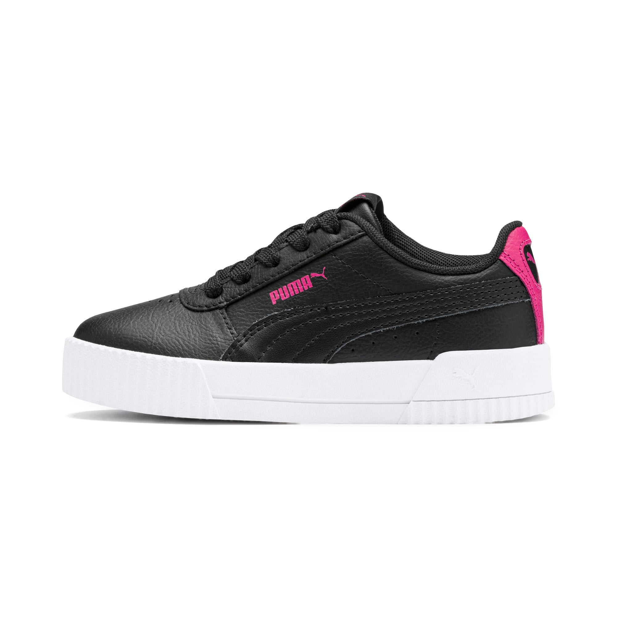 Thumbnail 1 of Carina L Kids' Trainers, Puma Black-Puma Black, medium