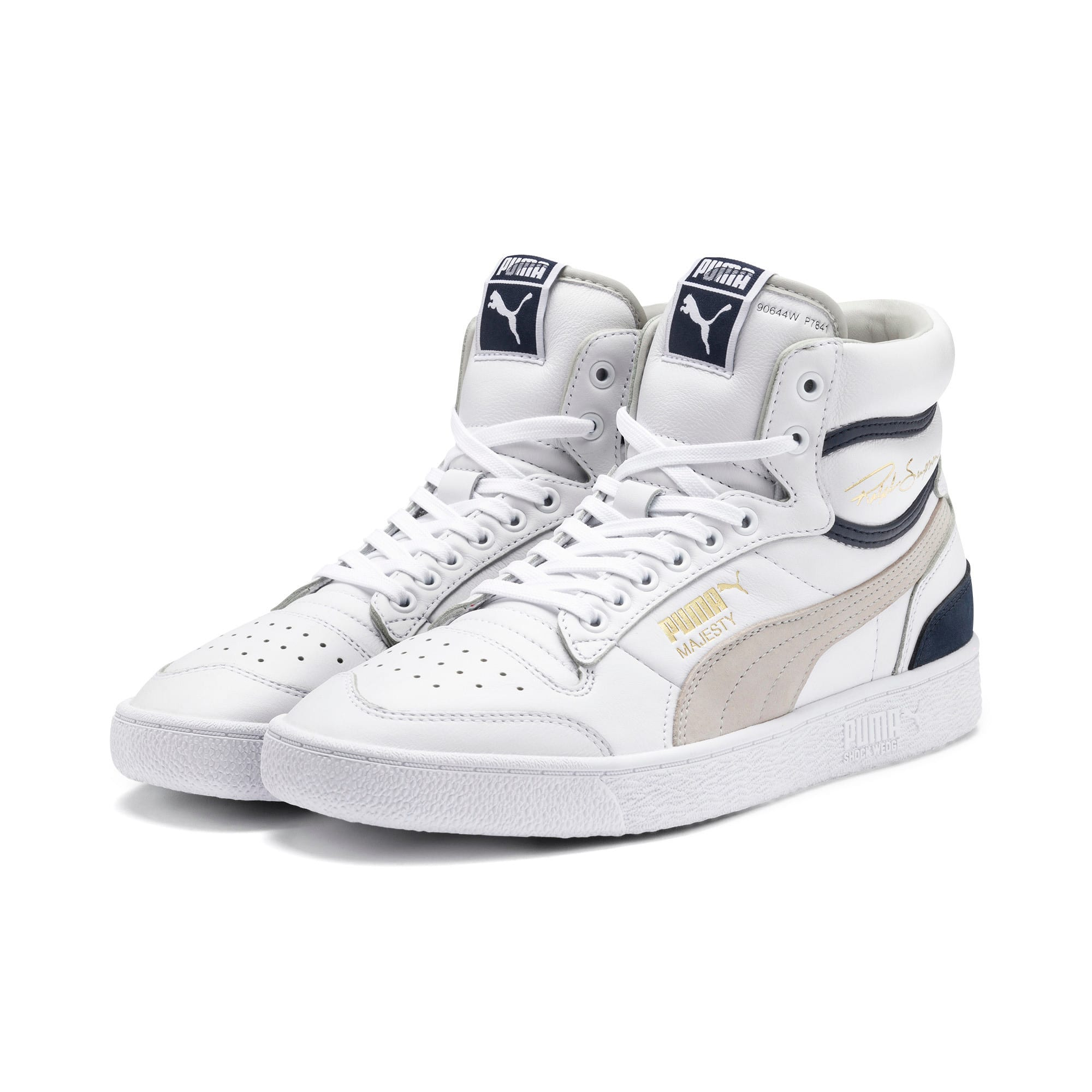 Miniatura 2 de Zapatos deportivos de caña media Ralph Sampson OG, Puma Wht-Gray Violet-Peacoat, mediano