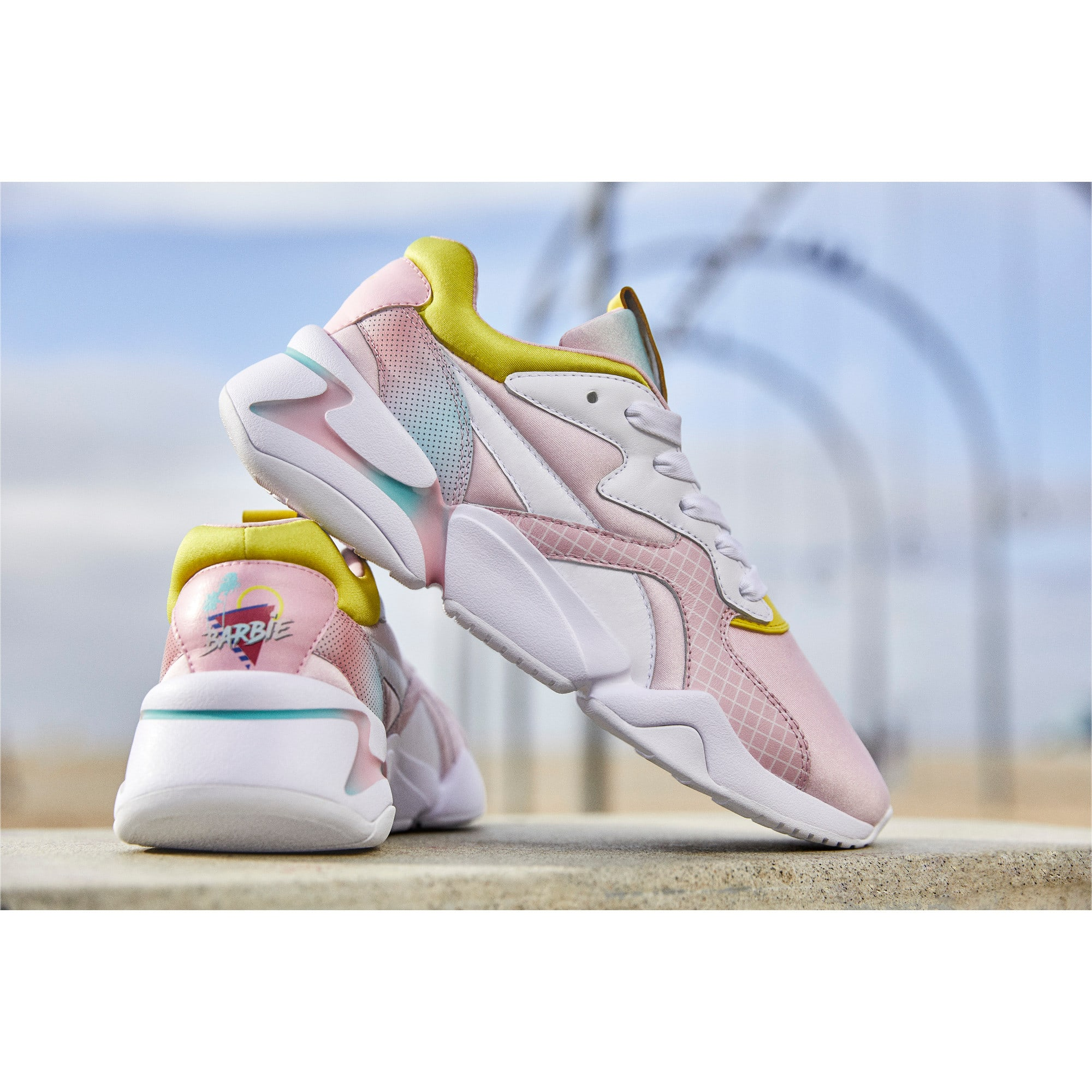 Thumbnail 8 of Nova x Barbie Little Kids' Shoes, Orchid Pink-Puma White, medium