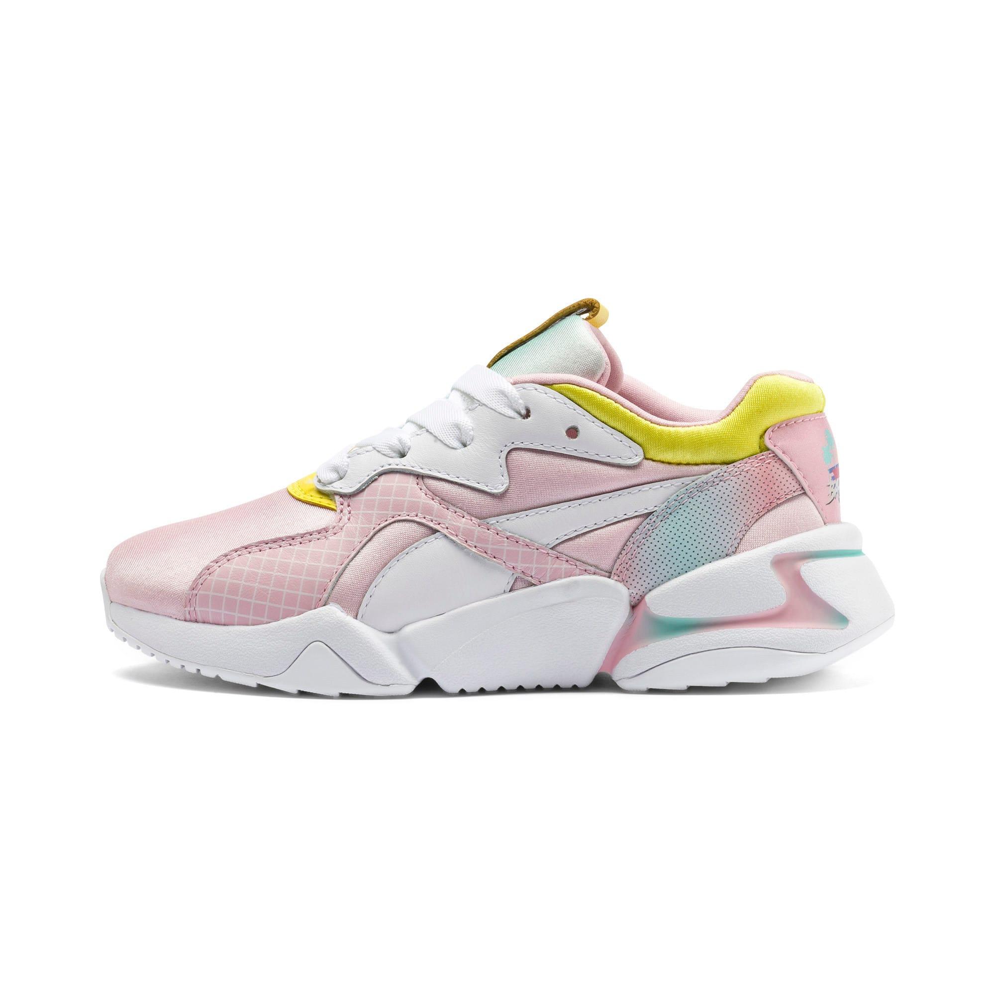 Thumbnail 1 of Nova x Barbie Little Kids' Shoes, Orchid Pink-Puma White, medium