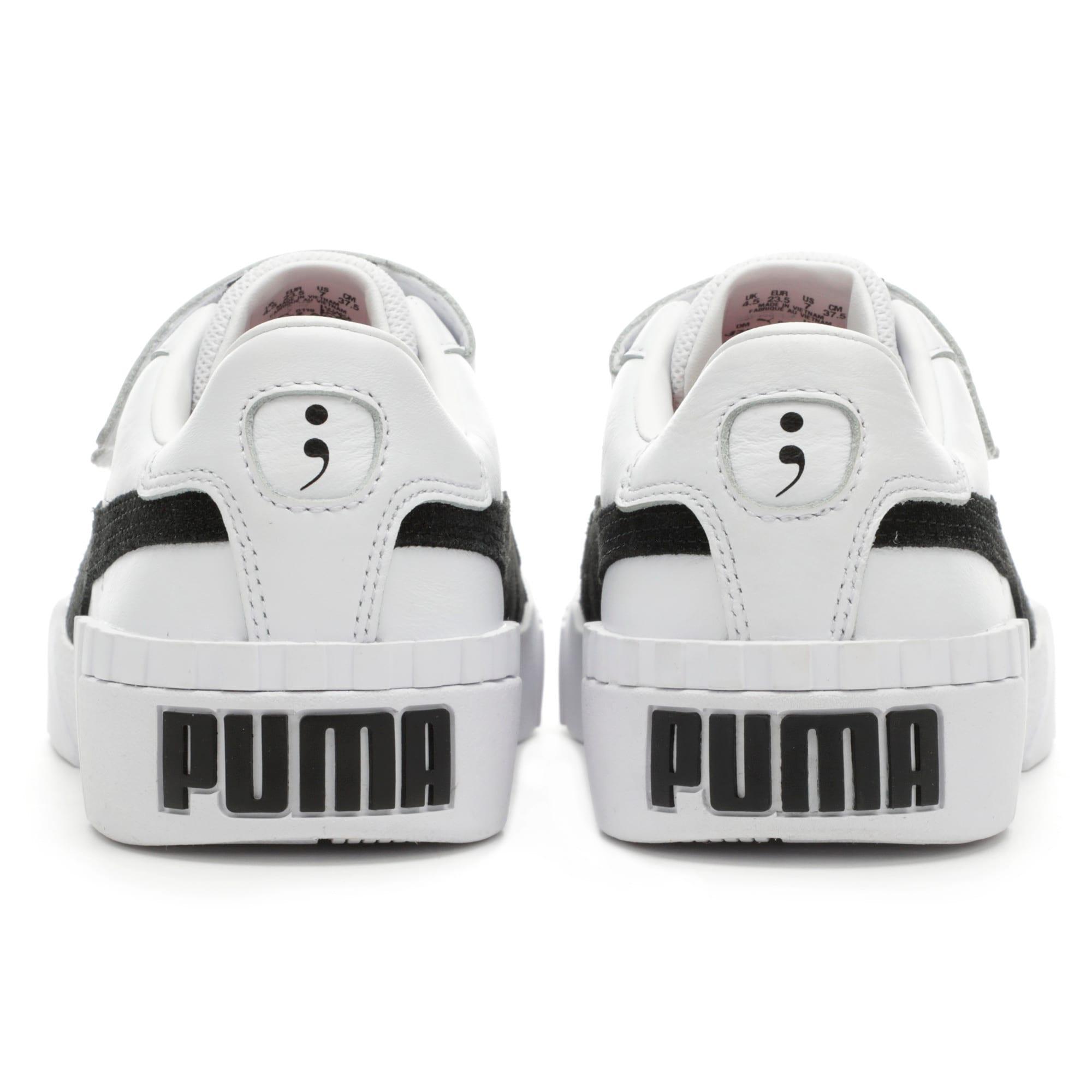 Thumbnail 4 of PUMA x SELENA GOMEZ Cali Women's Trainers, Puma White-Puma Black, medium