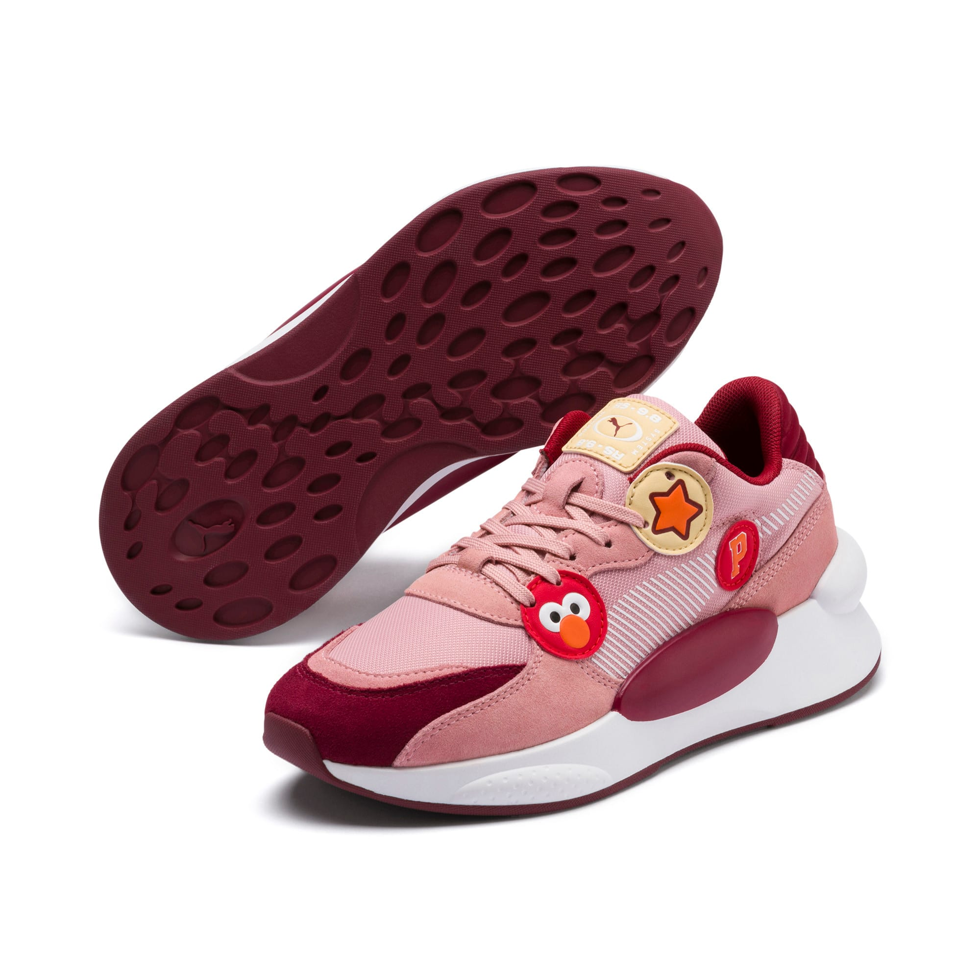Thumbnail 2 of Sesame Street 50 RS 9.8 Youth Trainers, Bridal Rose-Rhubarb, medium