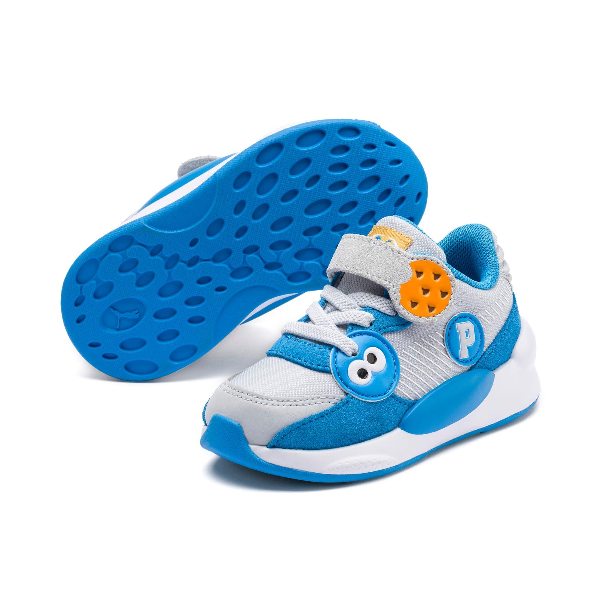 Thumbnail 2 of Sesame Street 50 RS 9.8 Babies' Trainers, Grey Dawn-Bleu Azur, medium